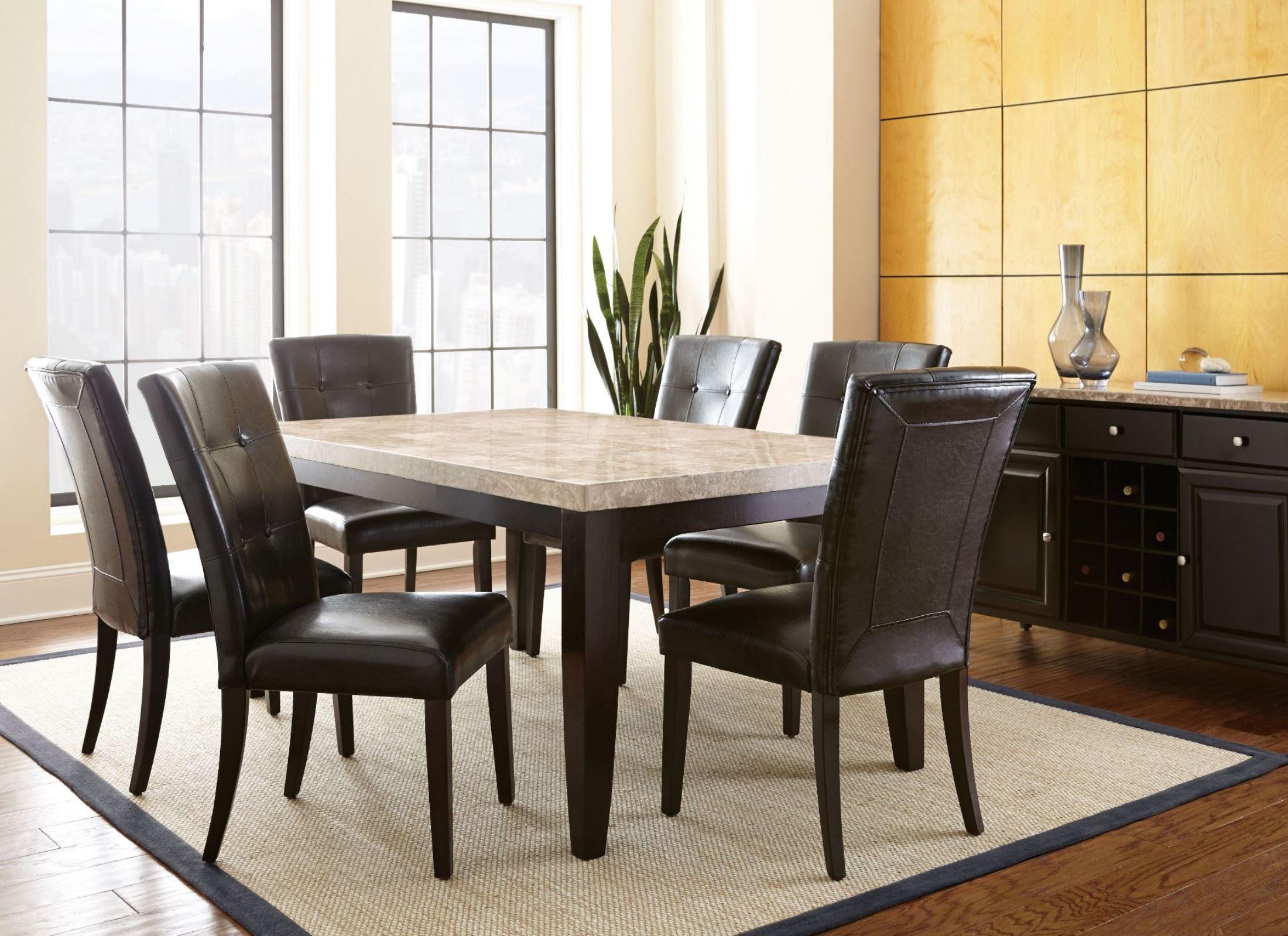 dark cherry dining room set | Monarch Cordovan Dark Cherry Rectangular Dining Room Set ...