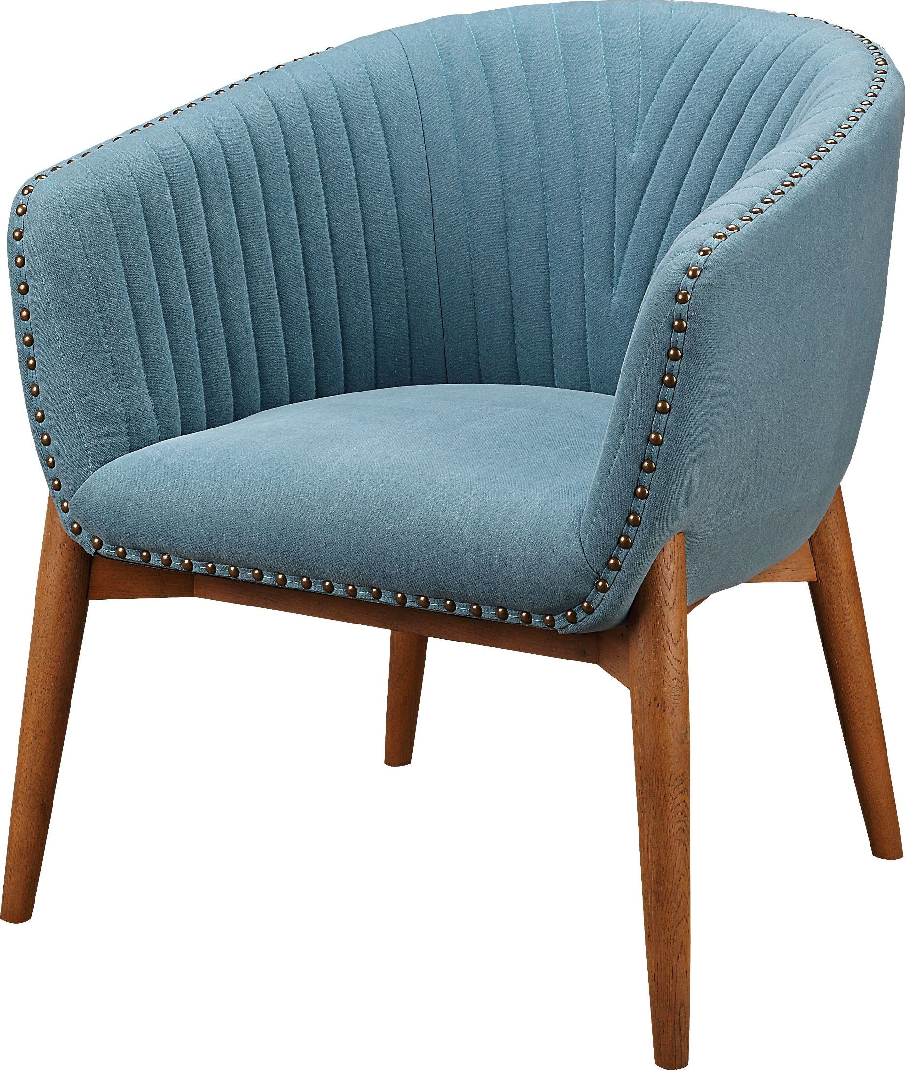 Kismet Teal Tub Chair from Moes Home | Coleman Furniture