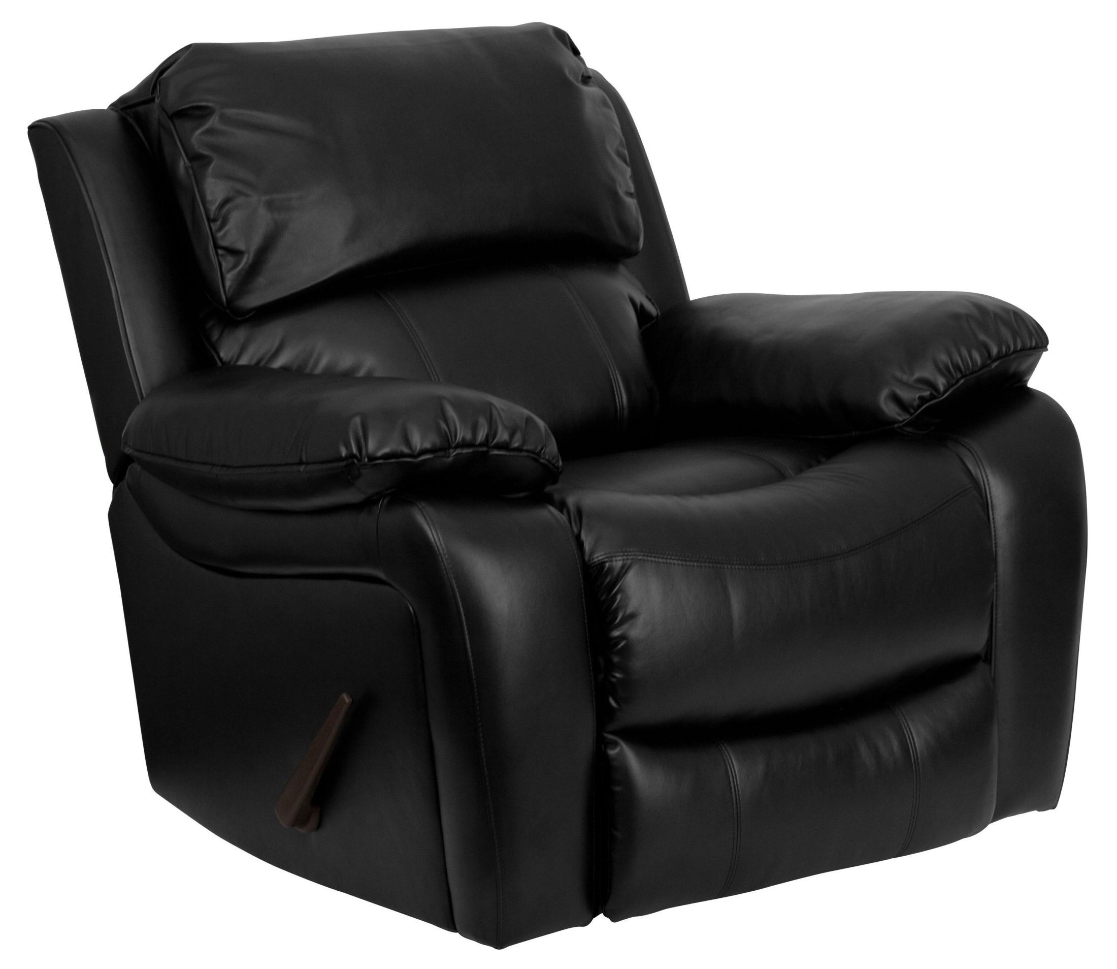 Black Leather Rocker Recliner From Renegade Coleman