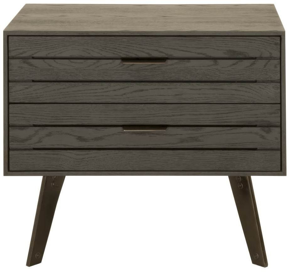 District carbon oak mesa nightstand from star for District 8 furniture