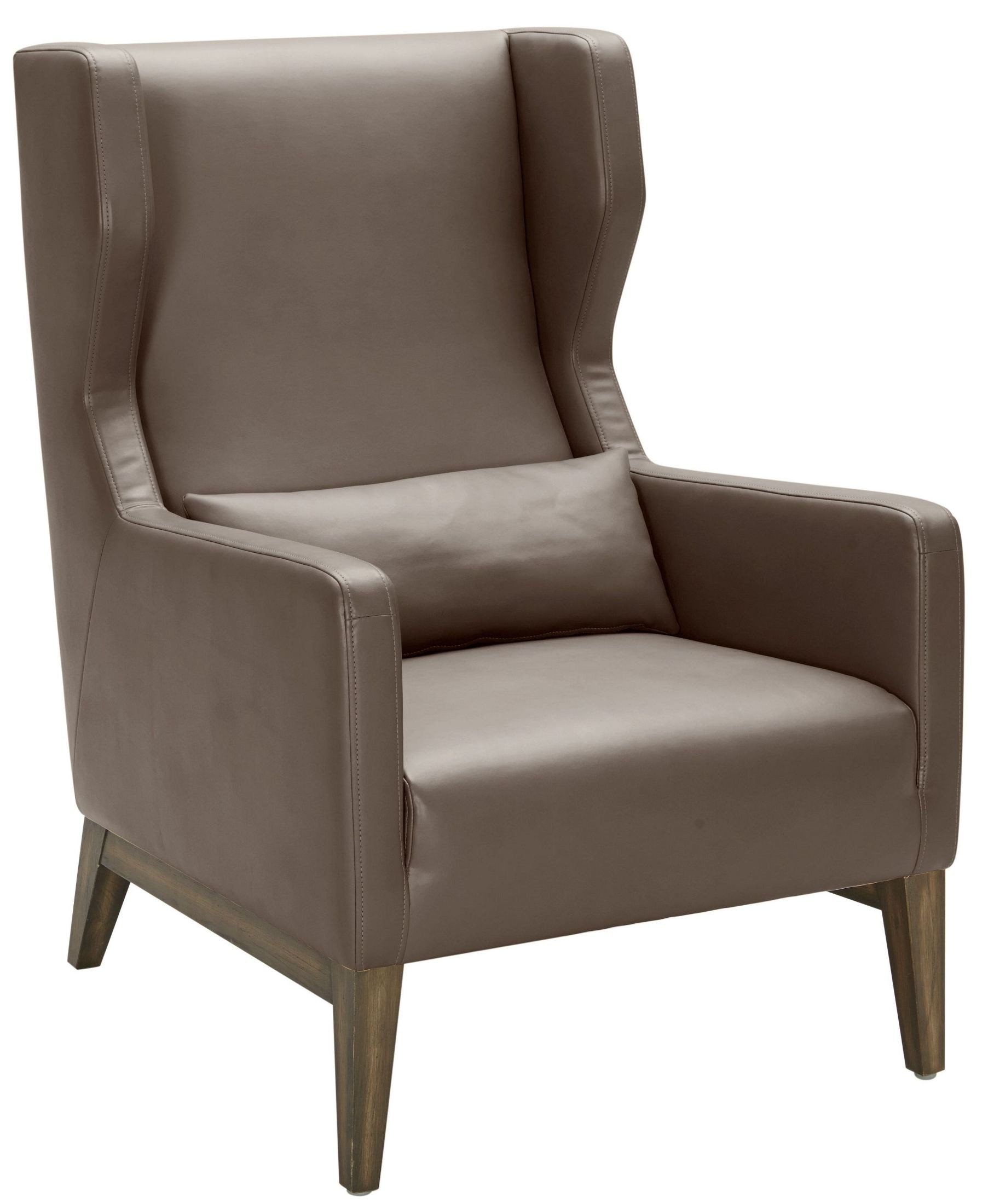Messina Dove Grey Leather Armchair From Sunpan Coleman