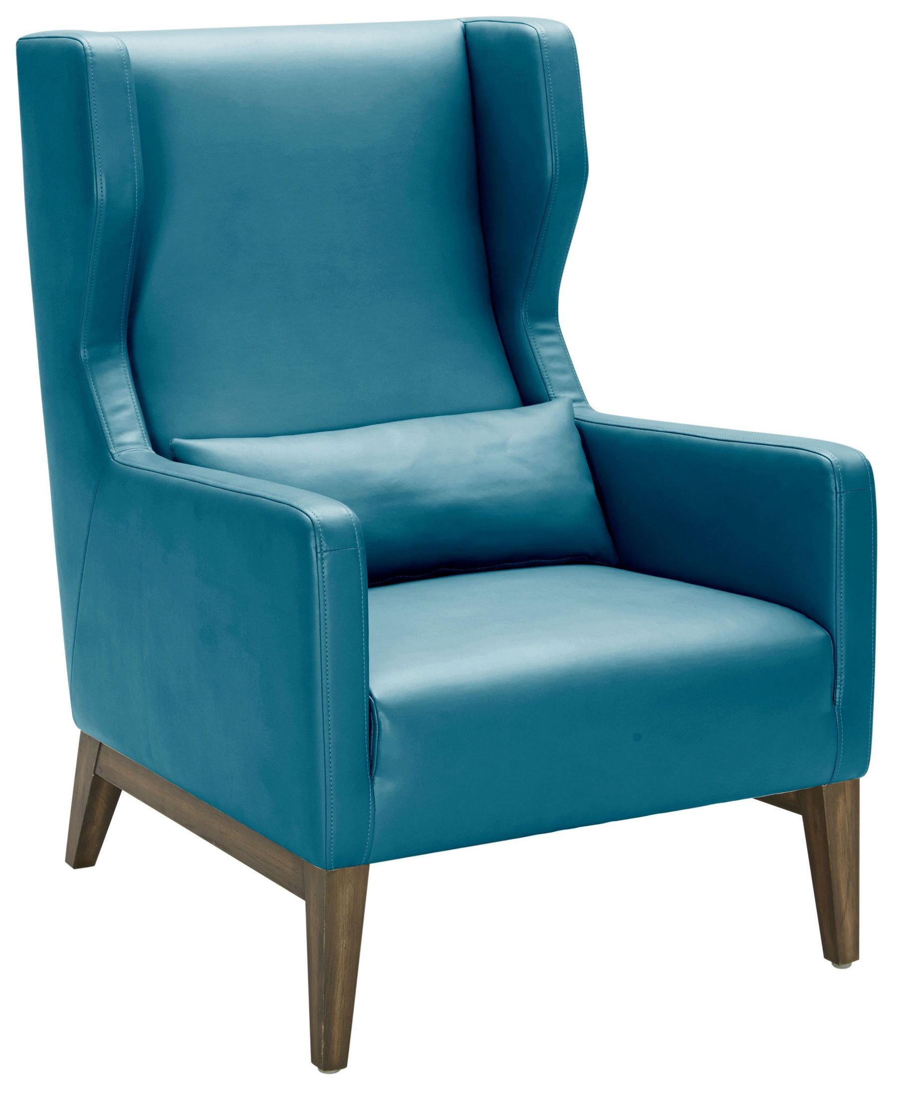 Messina Turquoise Leather Armchair From Sunpan