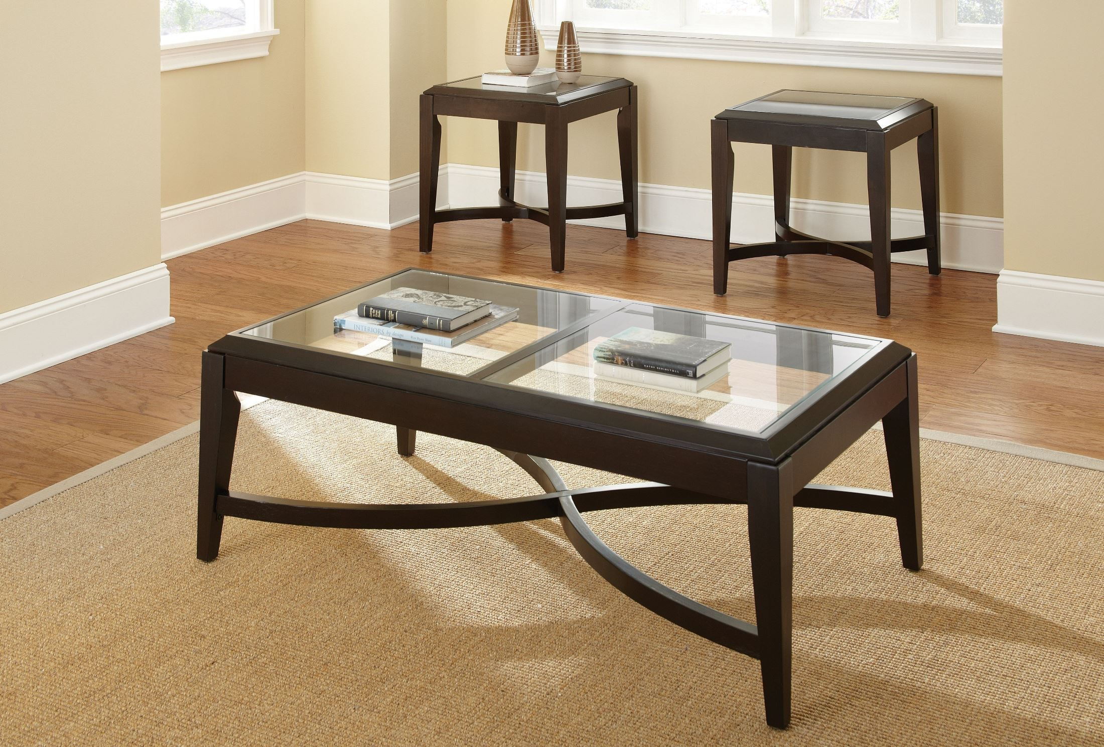 Mayfield 3 piece occasional table set from steve silver for Occasional table manufacturers