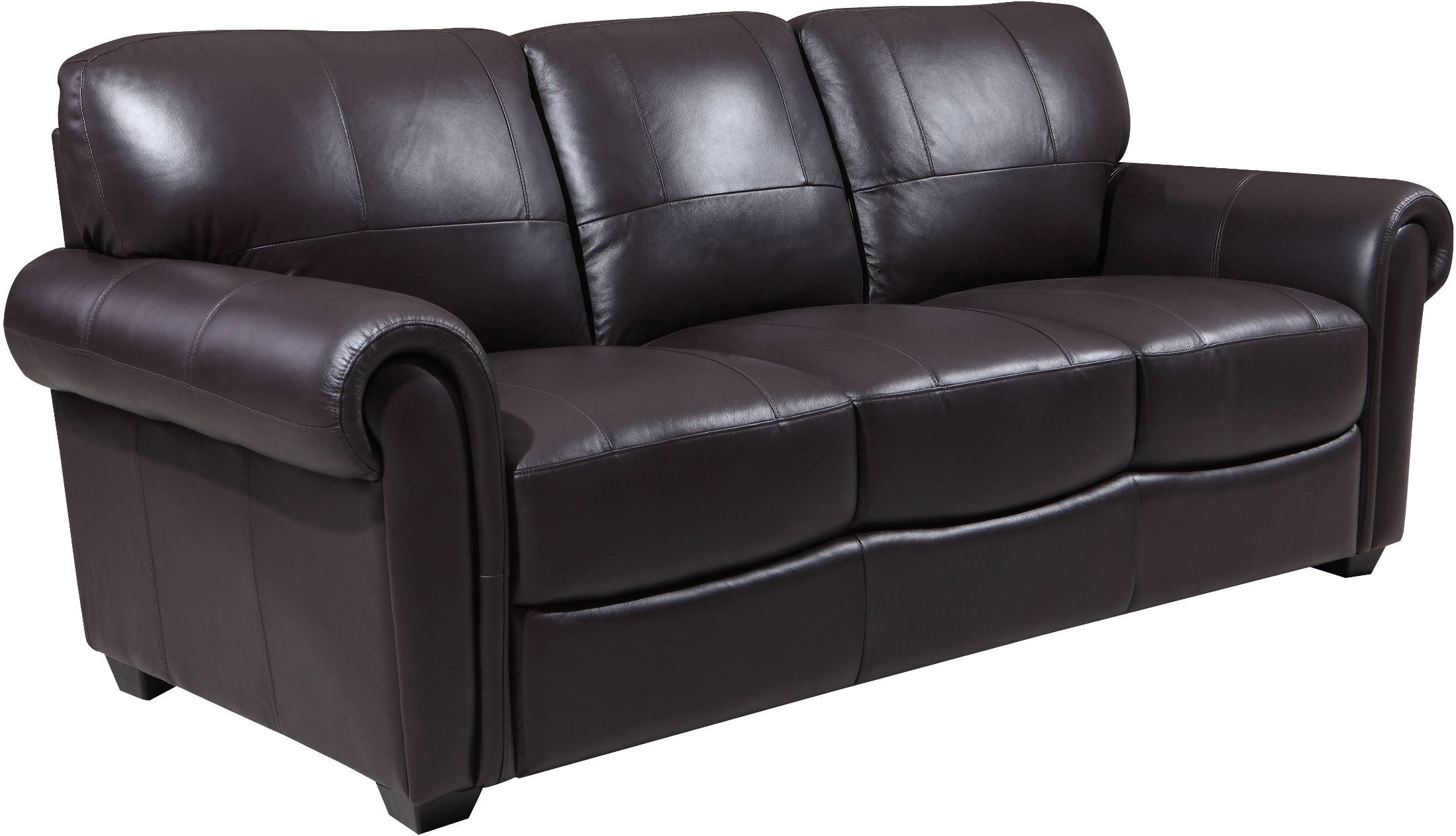 Shae Branson Dark Brown Leather Sofa from Luxe Leather