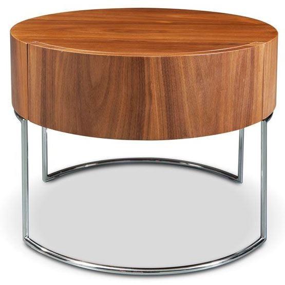 Light Walnut Wood Caleb Accent Table: Mint Light Walnut End Table From Bellini Modern Living