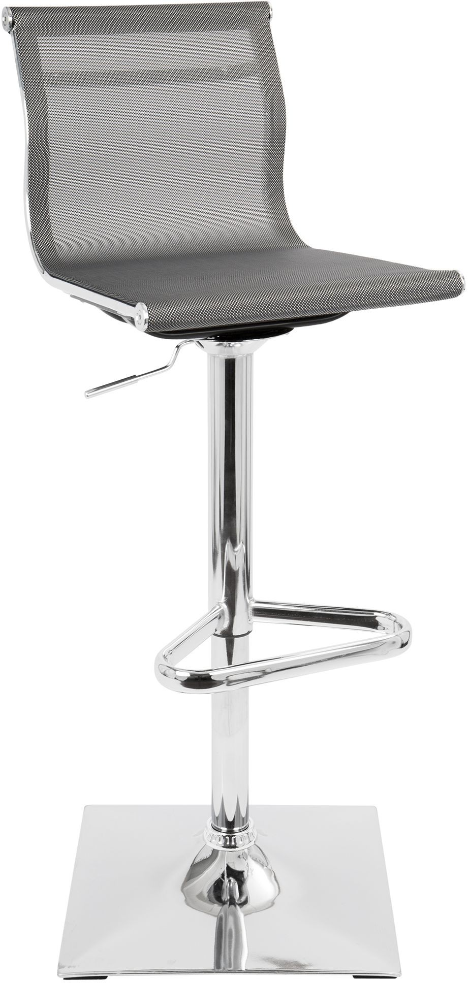 Mirage Silver Adjustable Barstool Set Of 2 From Lumisource