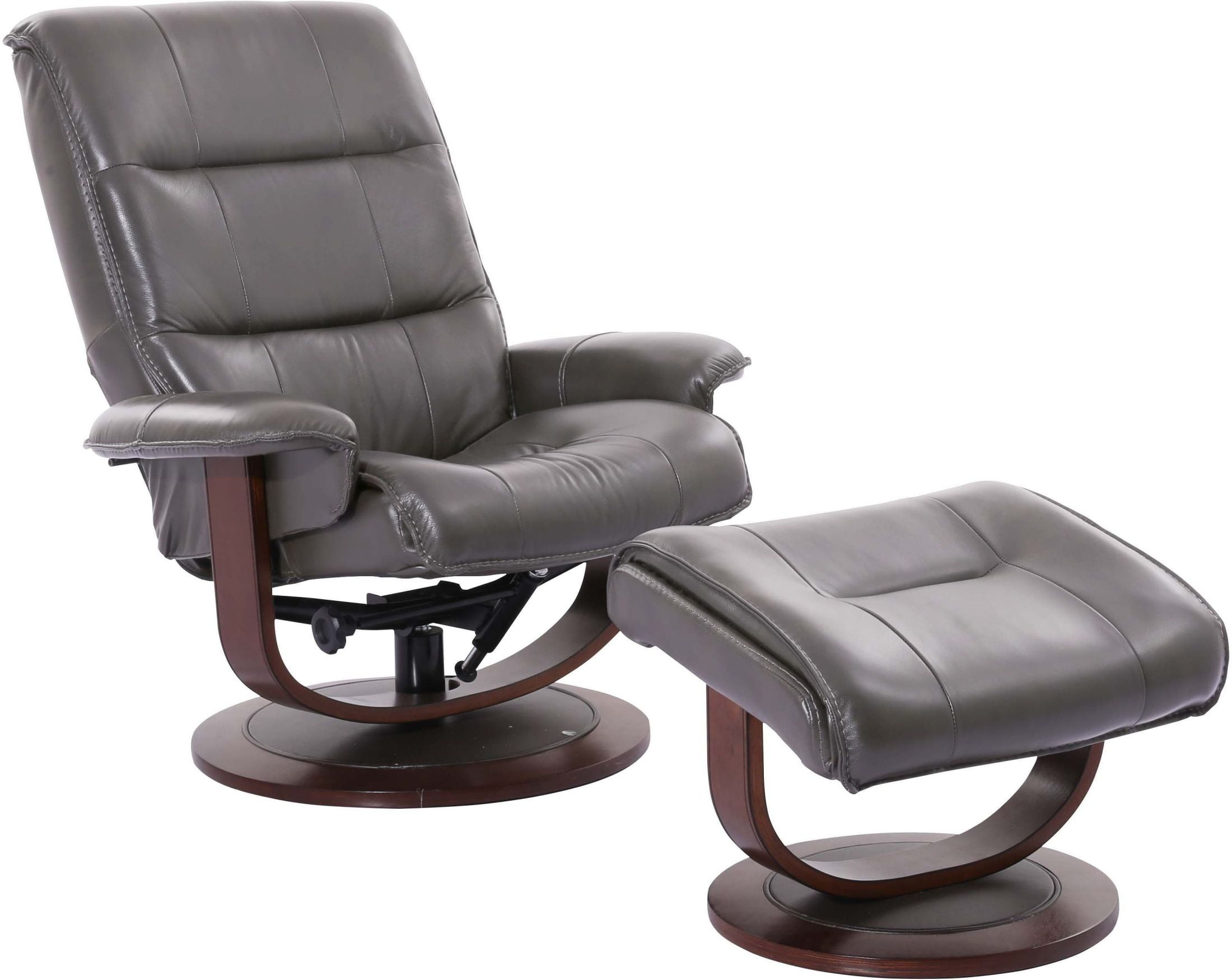 swivel ottoman l recliner motion mac leather and chairs set in oslo with htm cobblestone