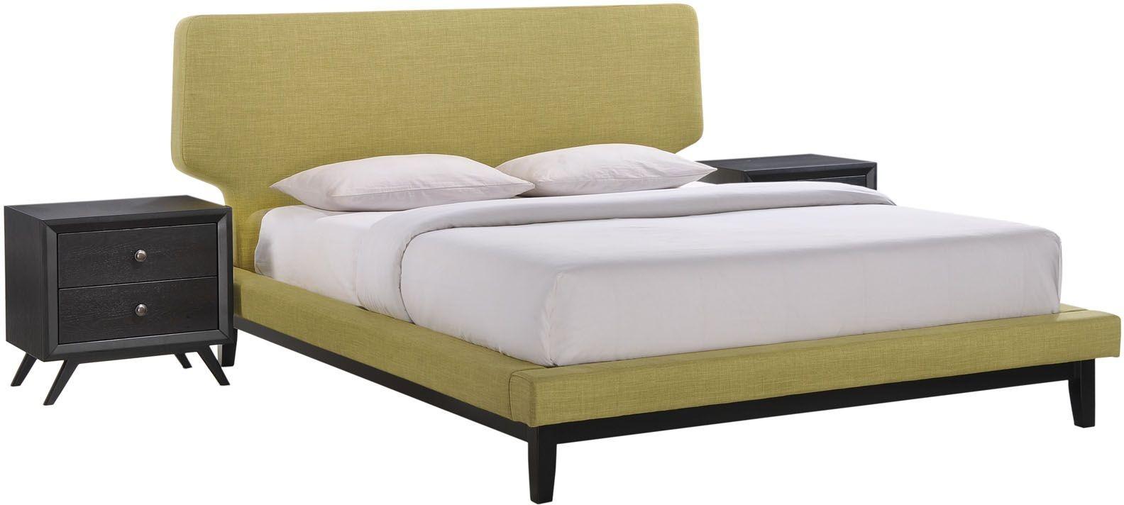 bethany black green 3 piece queen platform bedroom set from renegade coleman furniture. Black Bedroom Furniture Sets. Home Design Ideas