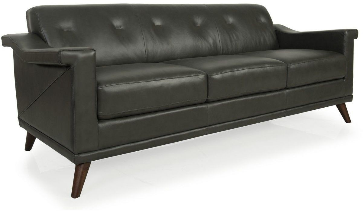 kak charcoal grey top grain leather sofa from moroni coleman furniture. Black Bedroom Furniture Sets. Home Design Ideas