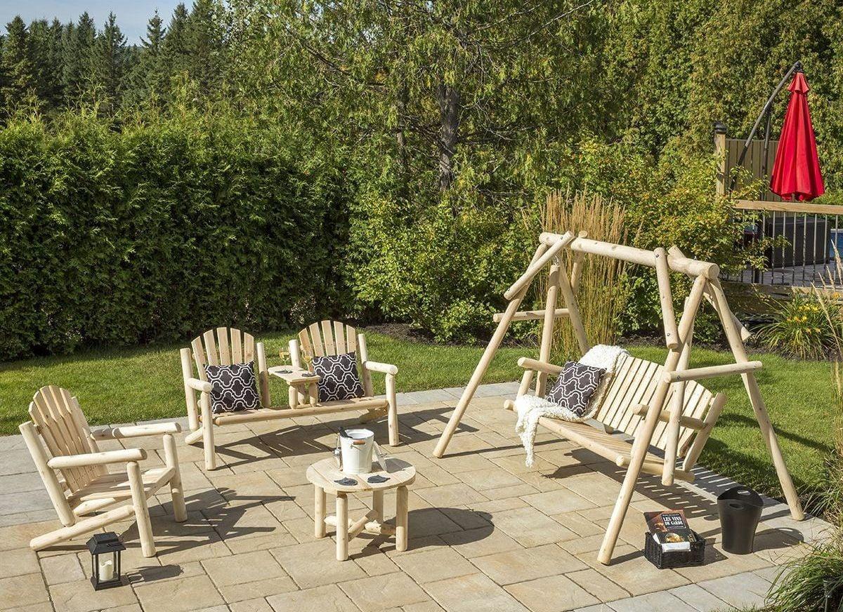 White Cedar Outdoor Deluxe 4 Piece Set From Bestar