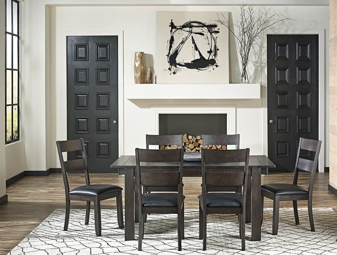 mariposa warm gray 100 extendable rectangular leg dining room set from a america coleman. Black Bedroom Furniture Sets. Home Design Ideas