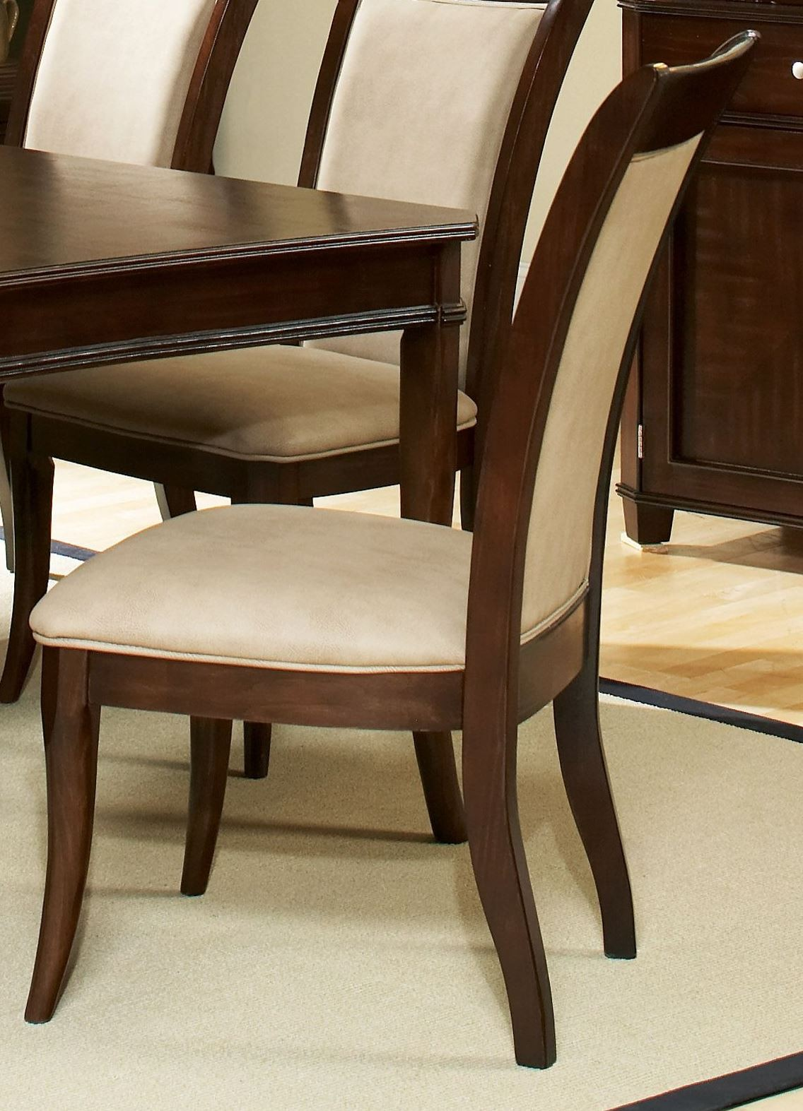 Marseille Merlot Cherry Dining Side Chair Set Of 2 From