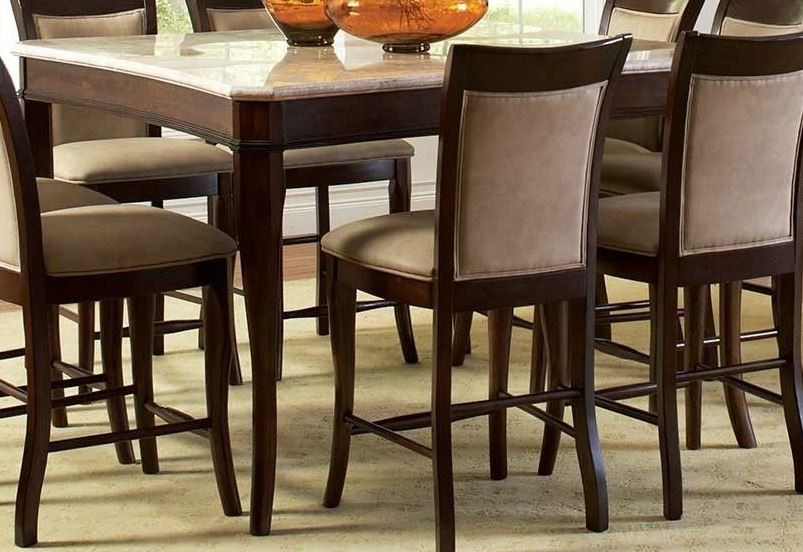 Marseille Merlot Cherry Square Counter Height Dining Table From Steve Silver (MS950WPT