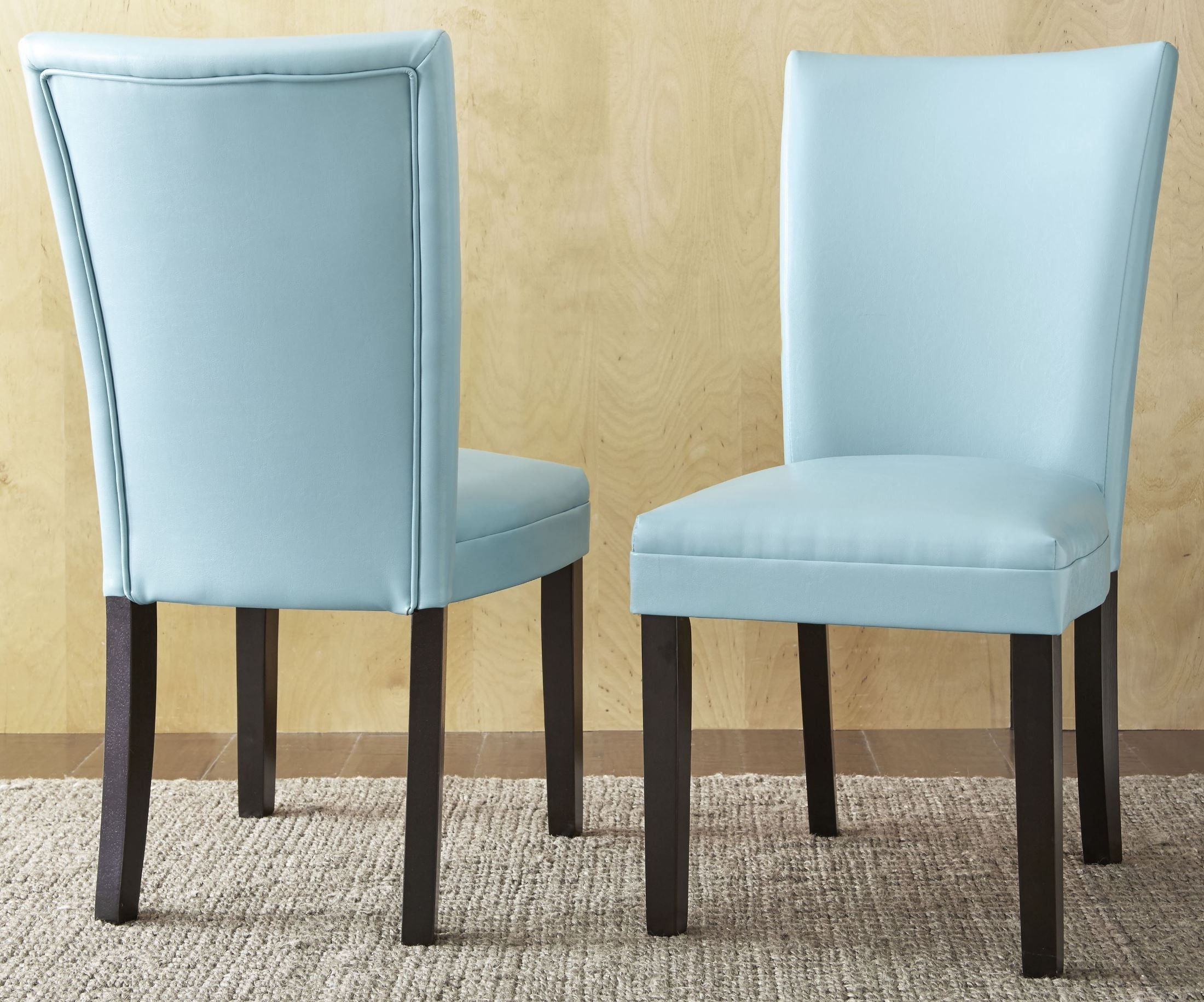 Matinee Aqua Bonded Leather Chair Set Of 2 From Steve