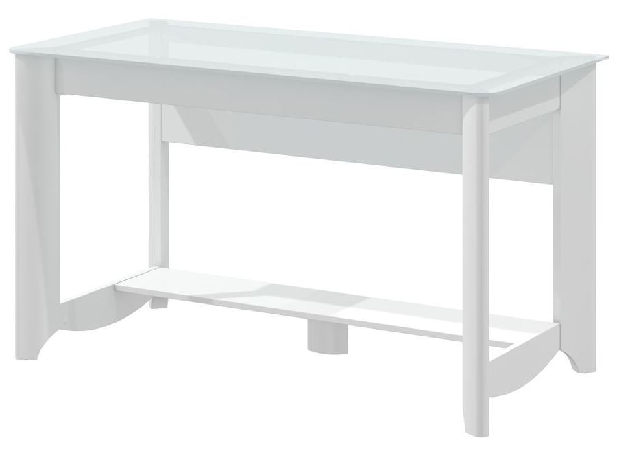 Aero Pure White Desk With Tall Storage From Bush