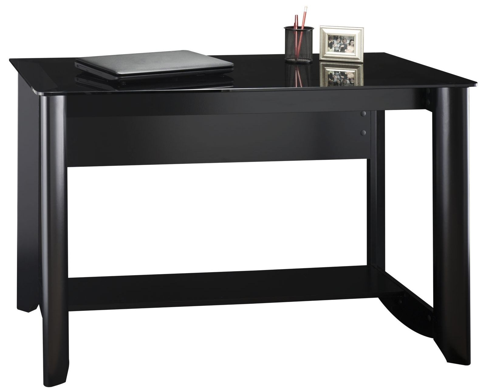 Aero Classic Black Desk With Tall Storage Amp 16 Cube