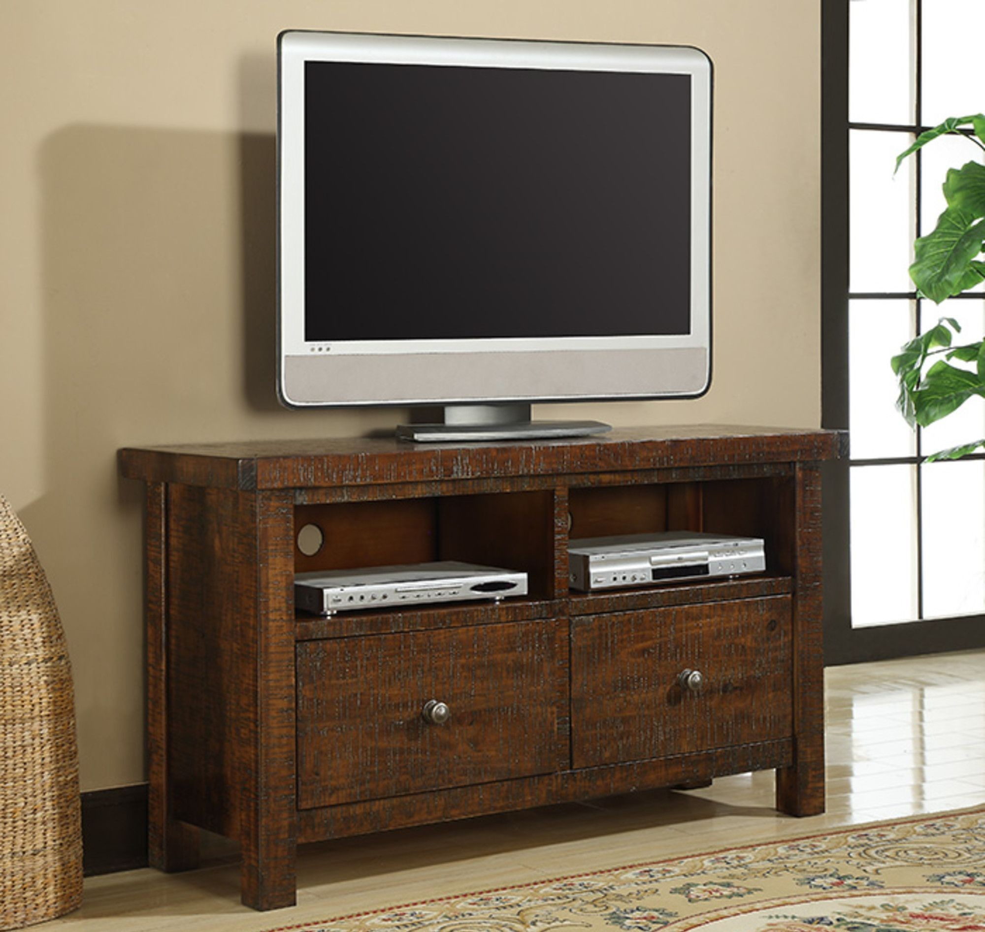 Castlegate Pine 54 Tv Console From Emerald Home Coleman Furniture