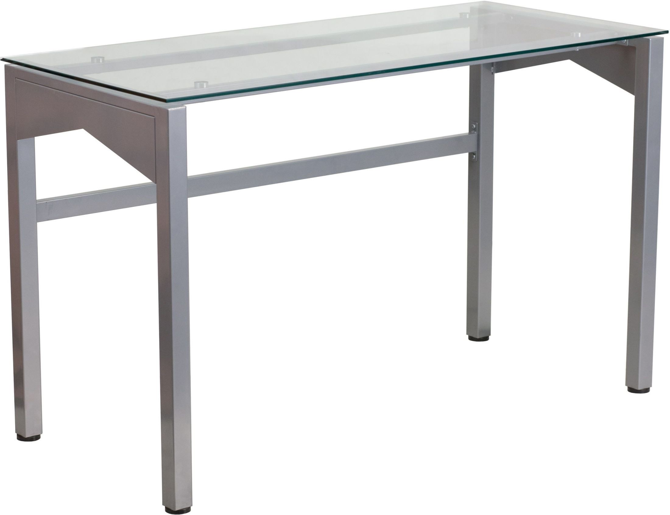 Contemporary Desk With Clear Tempered Glass Top From Renegade Coleman Furniture