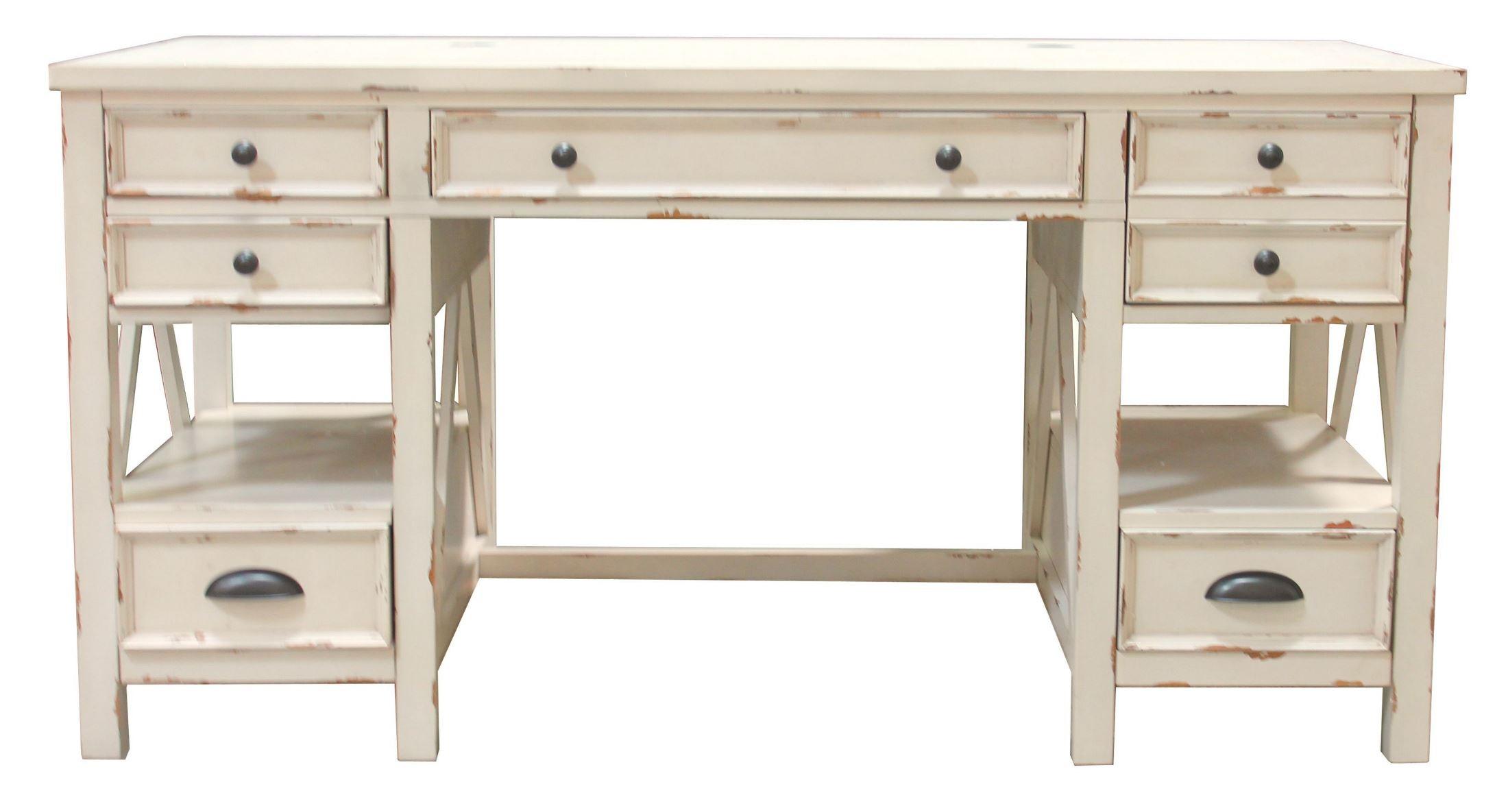 Design White Writing Desk nantucket vintage burnished artisanal white writing desk from desk