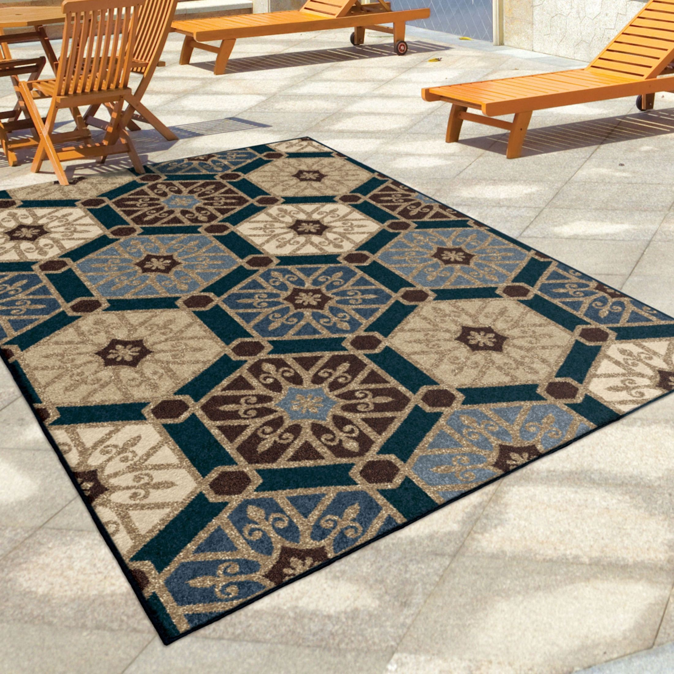large outdoor rugs orian rugs indoor outdoor hexagons partha blue area large 654