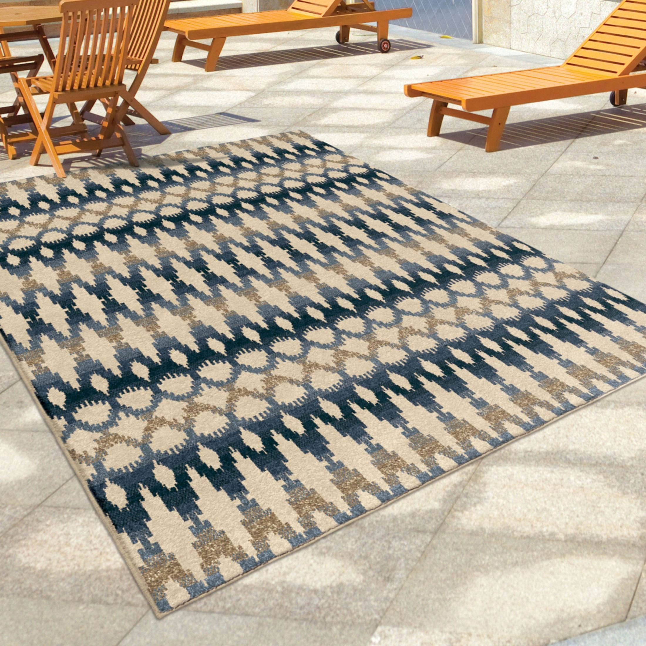 large outdoor rugs orian rugs indoor outdoor southwest links ikat ombre multi 654