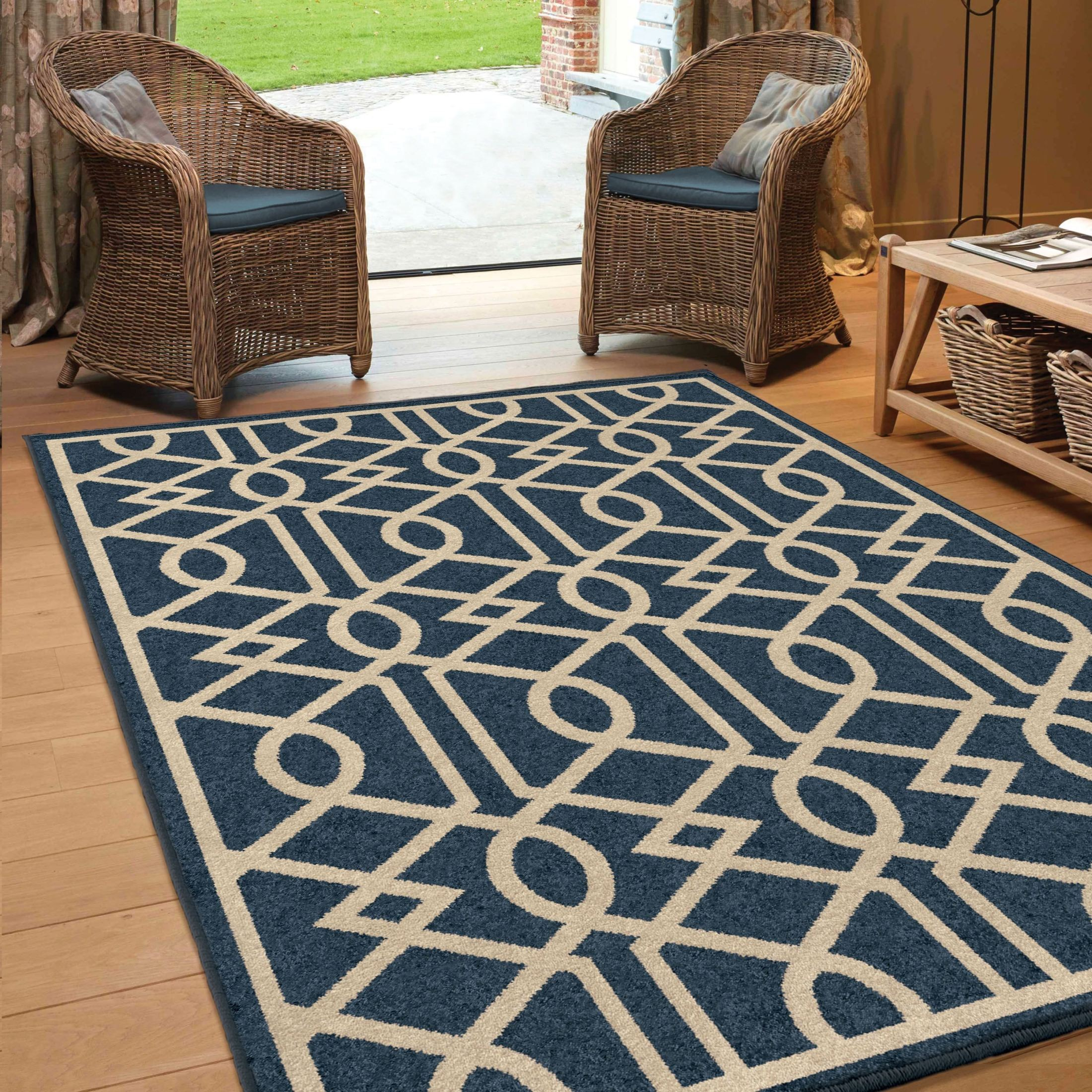 large outdoor rugs orian rugs indoor outdoor trellis barcelona blue area 654