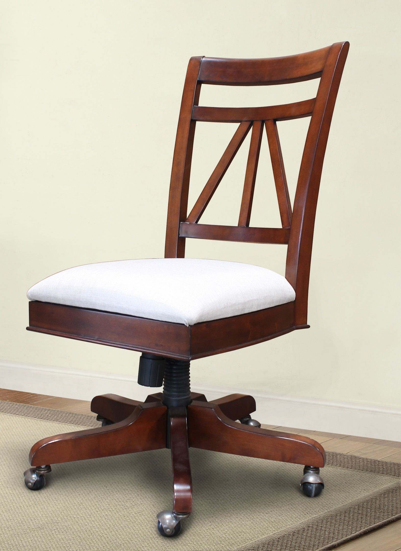 Napa Bourbon Armless Upholstered Desk Chair From Parker