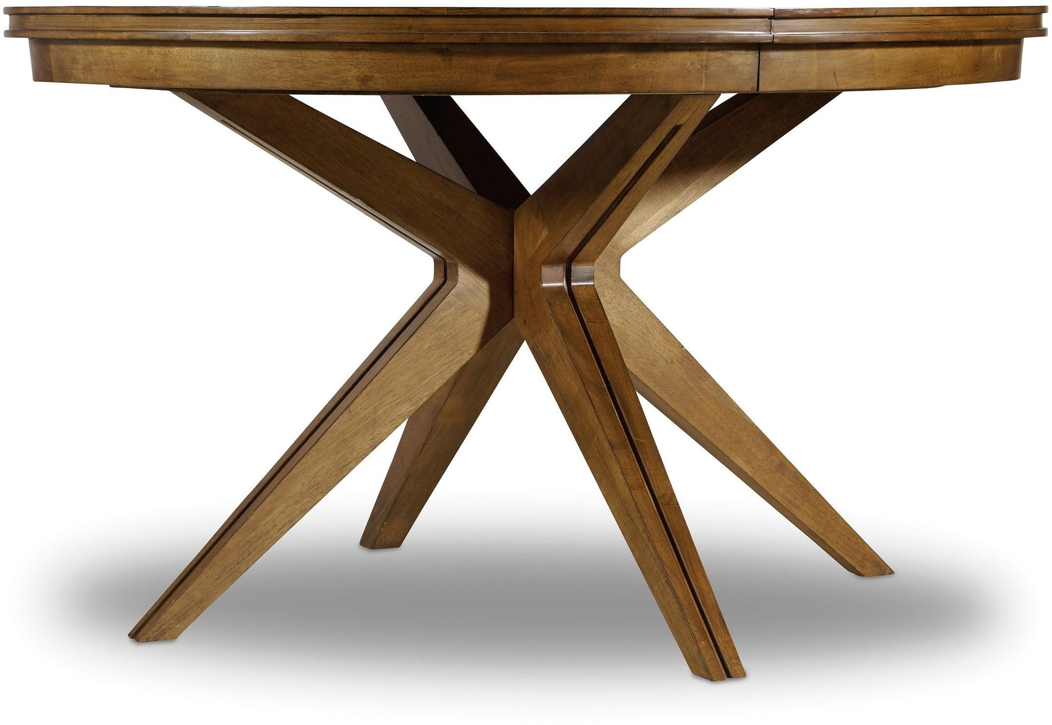 "Round Dining Table 52 Inch: Retropolitan Brown 52"" Round Extendable Dining Table, 5510"