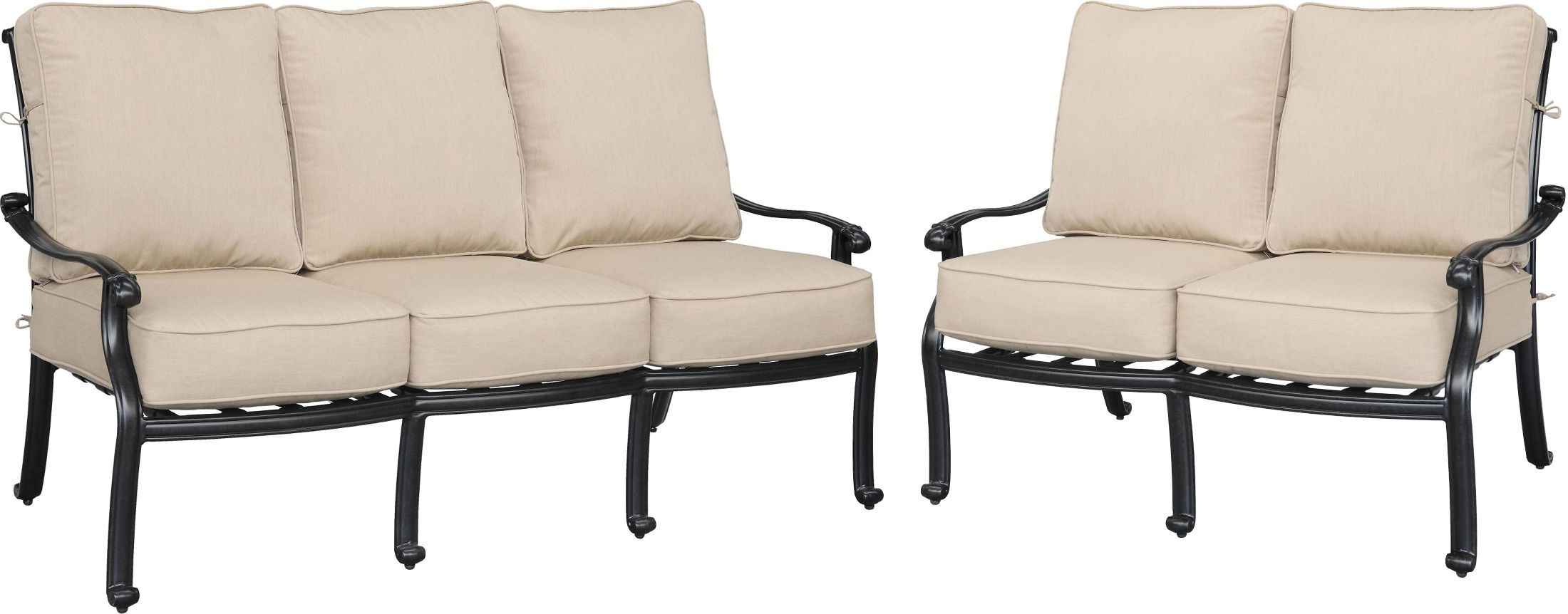 sunbrella living room furniture versailles sunbrella onyx outdoor living room set ou1045 14323