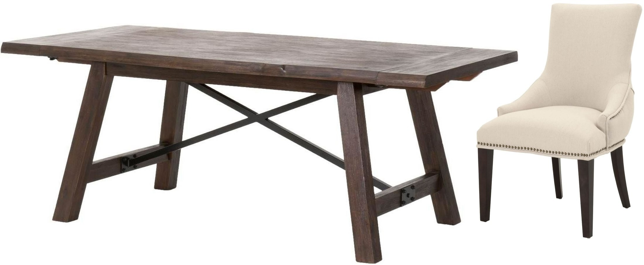 nixon rustic java extendable dining table from orient