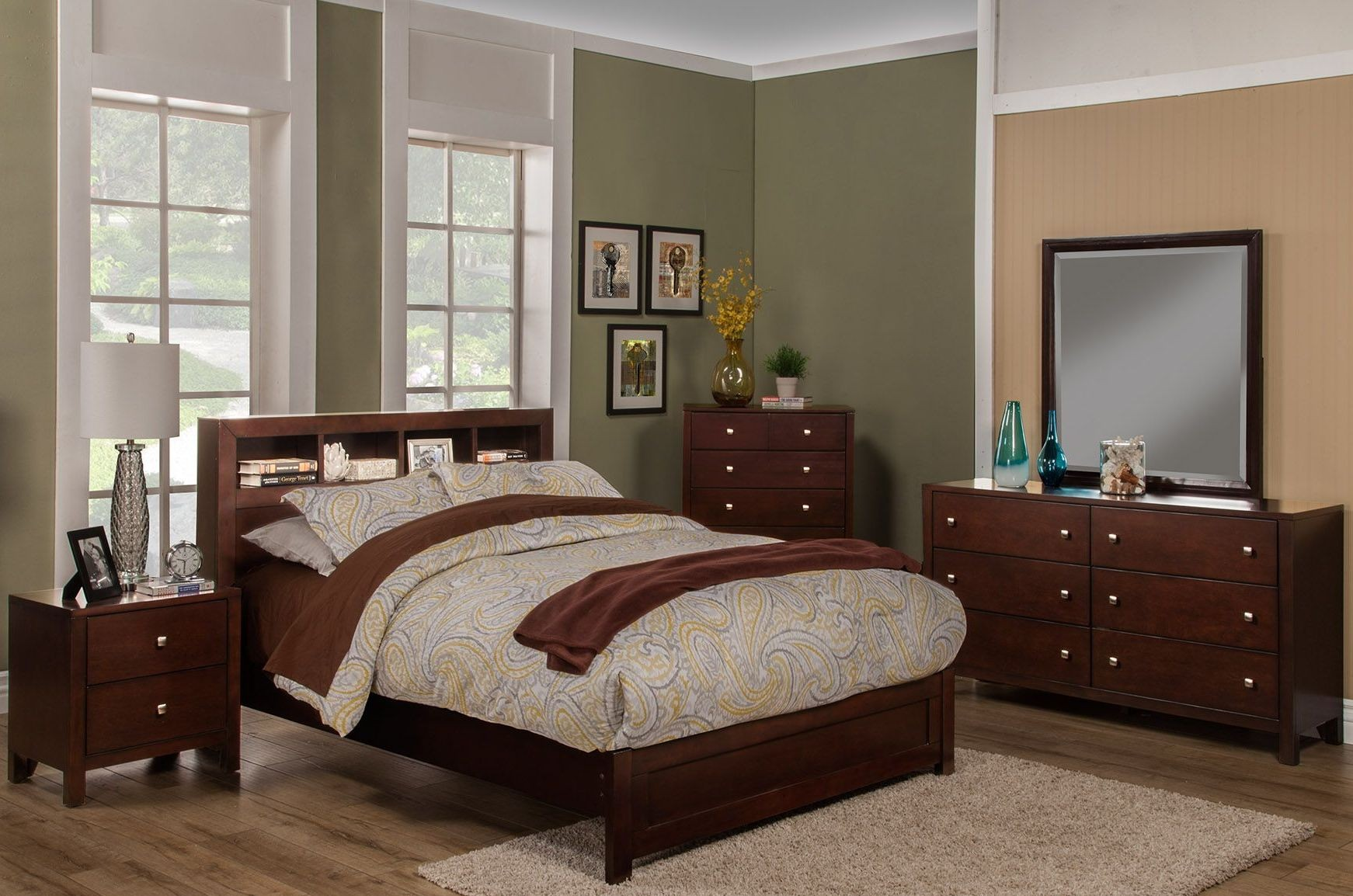 Solana Cappuccino Youth Platform Bedroom Set From Alpine Coleman Furniture