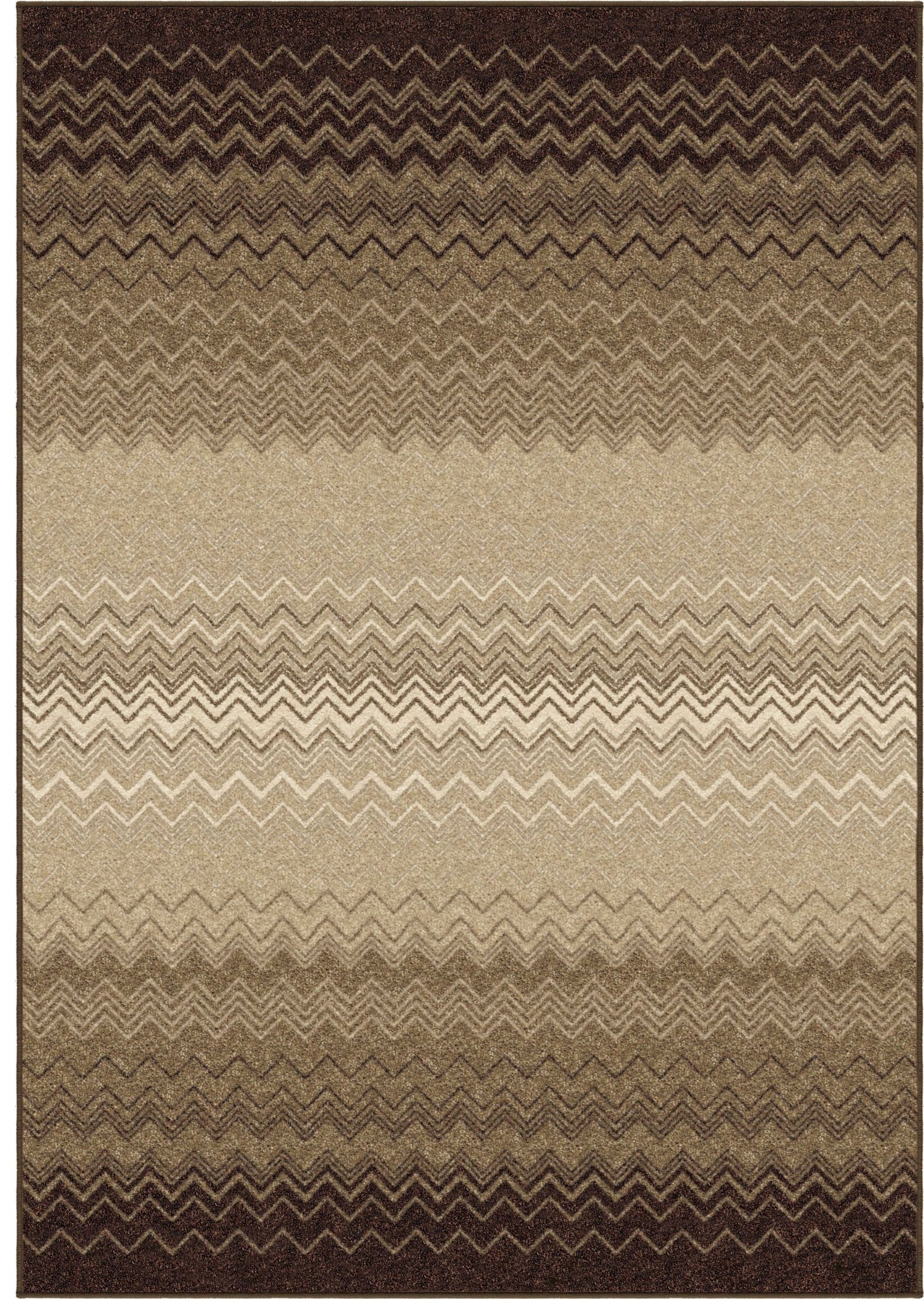 Orian Rugs Trendy Colors Chevron Zig Zag Chevron Taupe