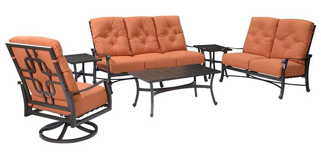 Chatham Ii Cappuccino Sunbrella Living Room Set Ou1062 00 05 Ou1062 01 05 Emerald Home Furnishings