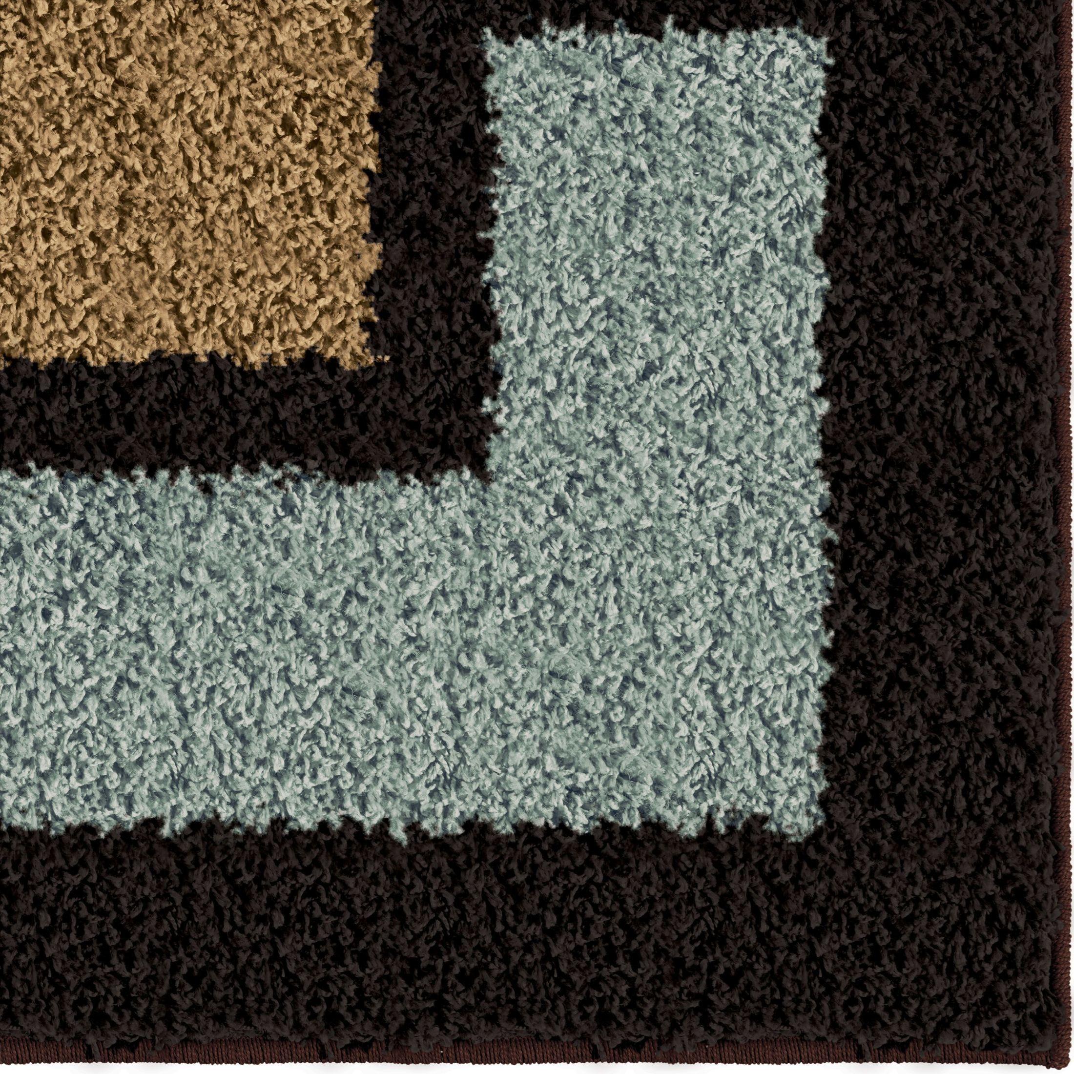 Impressions Shag Plush Shapes Link Multi Large Area Rug
