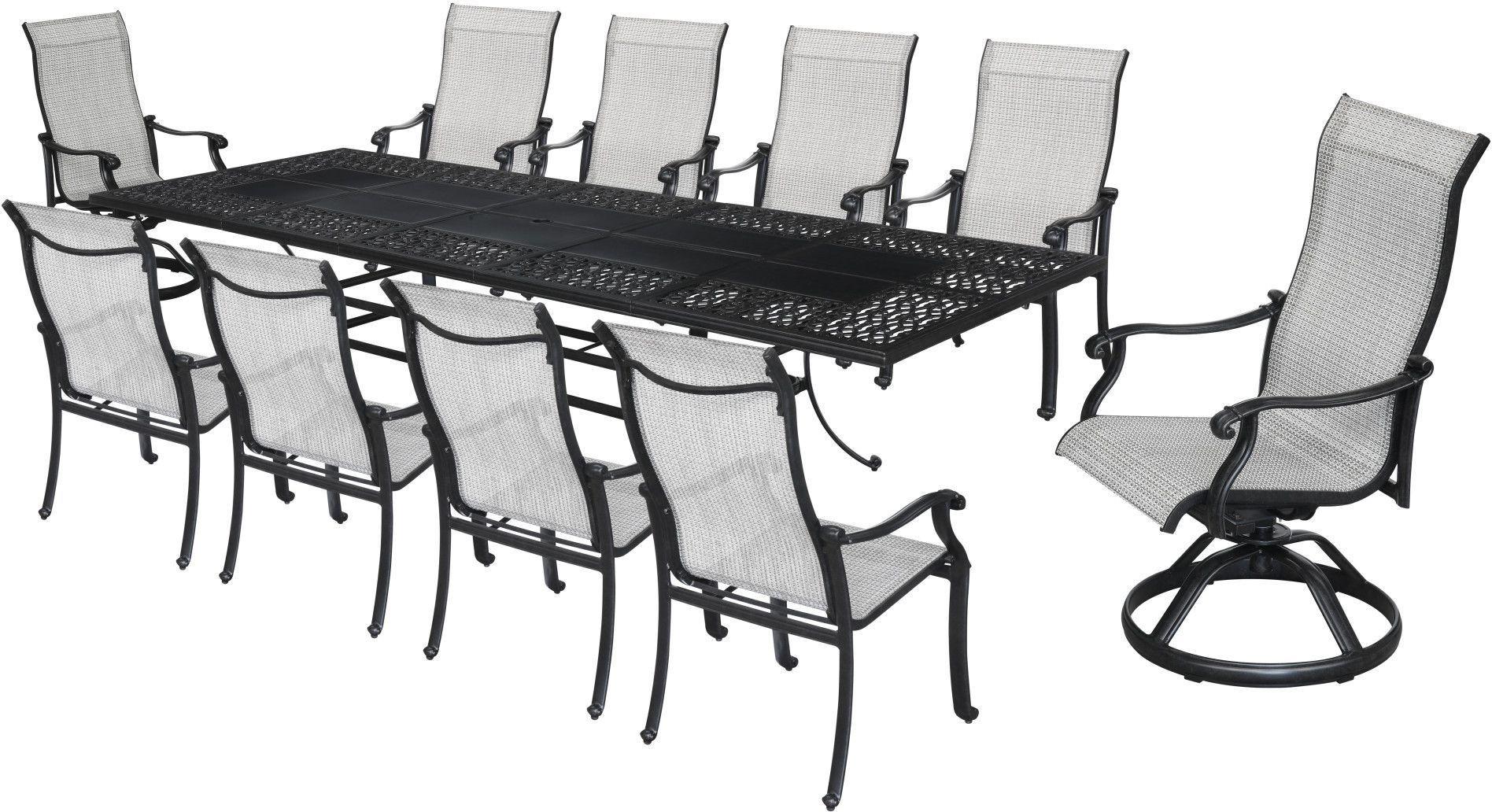 versailles onyx outdoor rectangular extendable umbrella dining
