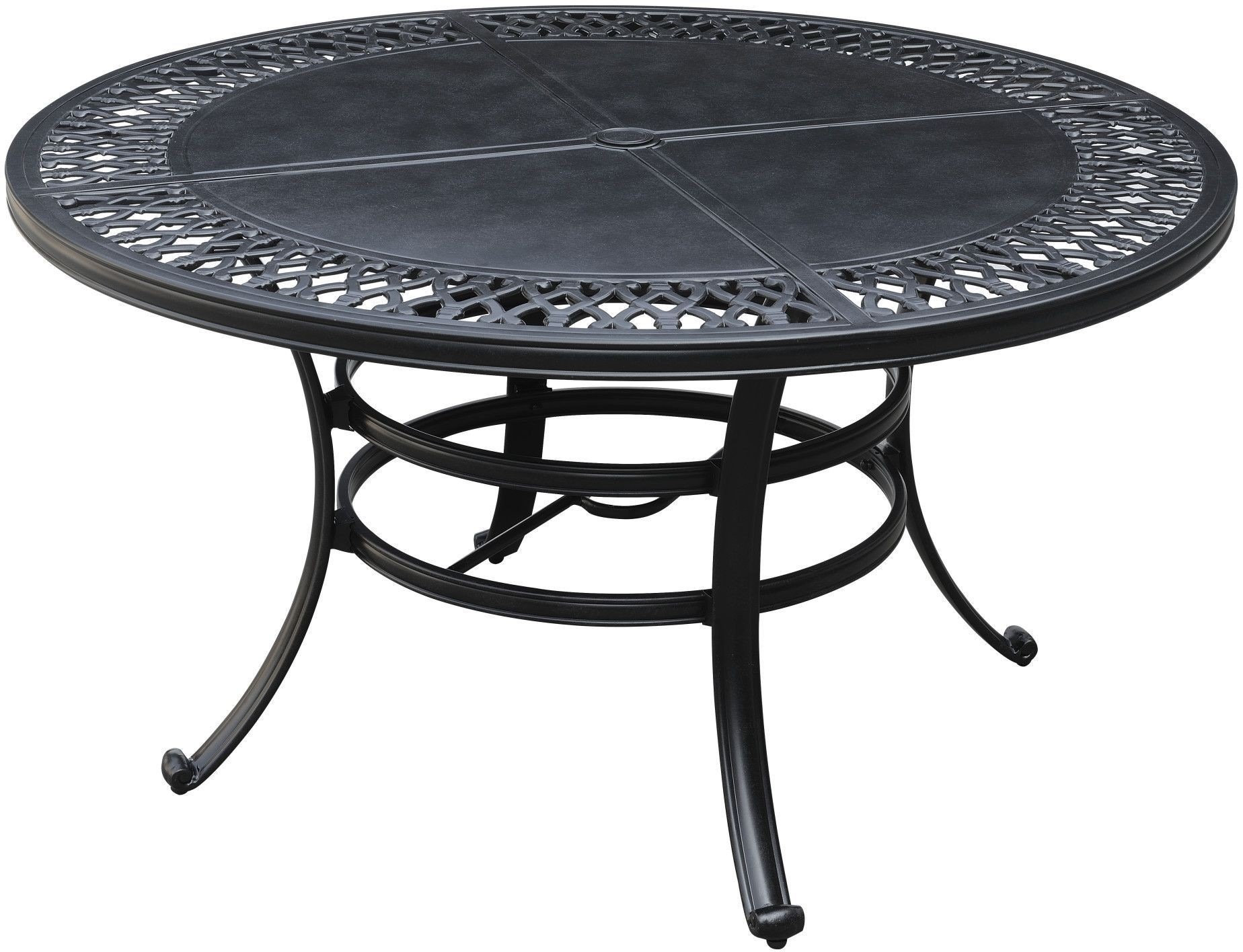 versailles onyx 54 round outdoor umbrella dining table from emerald home coleman furniture. Black Bedroom Furniture Sets. Home Design Ideas