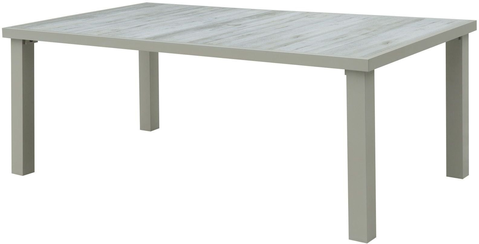 Sheridan Champagne Porcelain Outdoor Umbrella Dining Table from