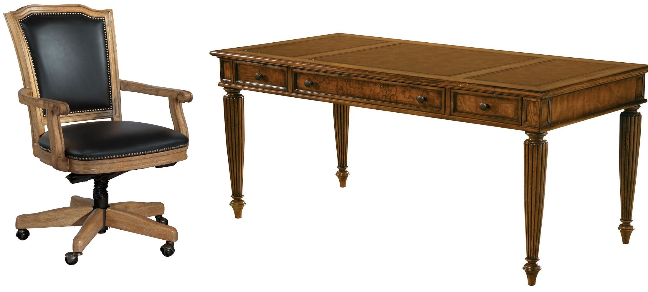 Urban Ash Burl Table Desk Home Office Set From Hekman