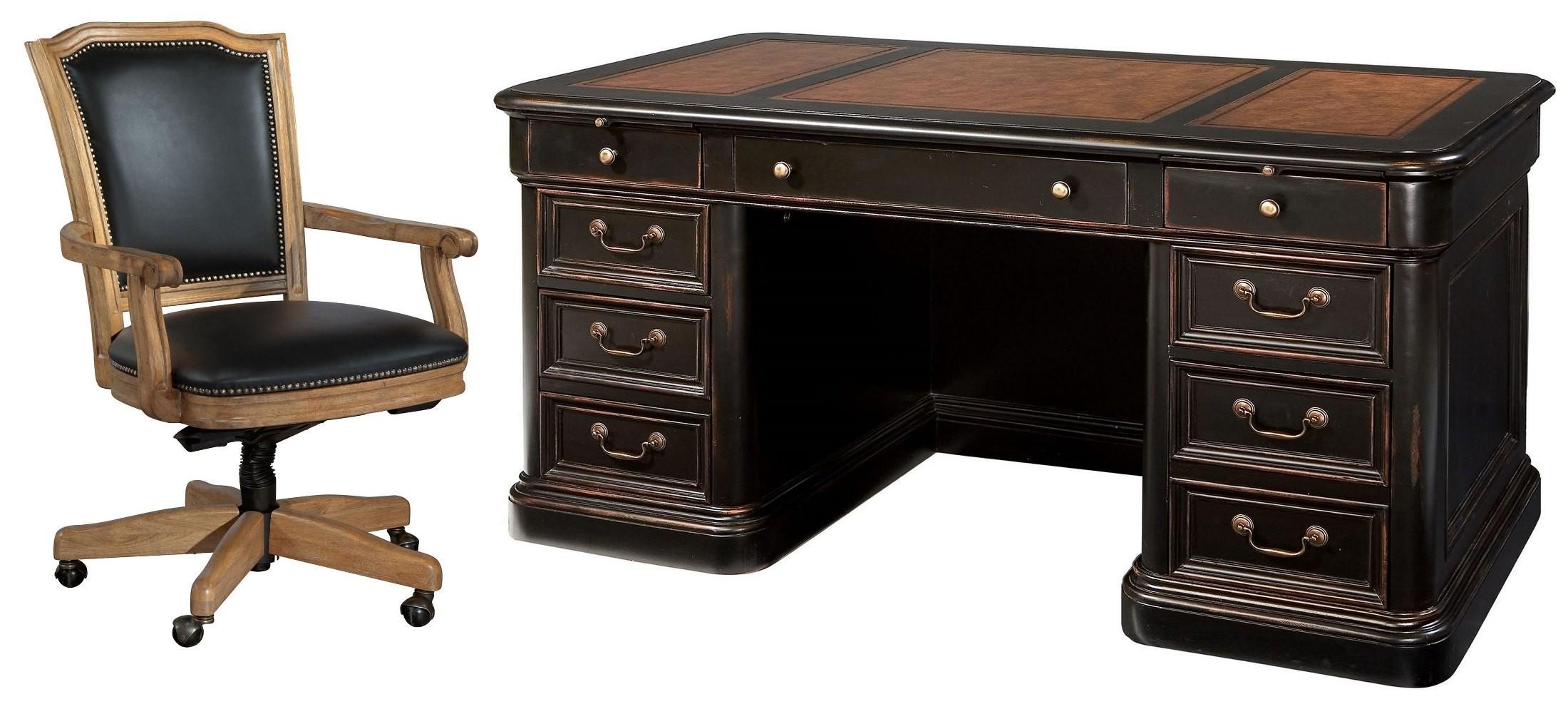 Louis Phillippe Black Junior Executive Desk Home Office