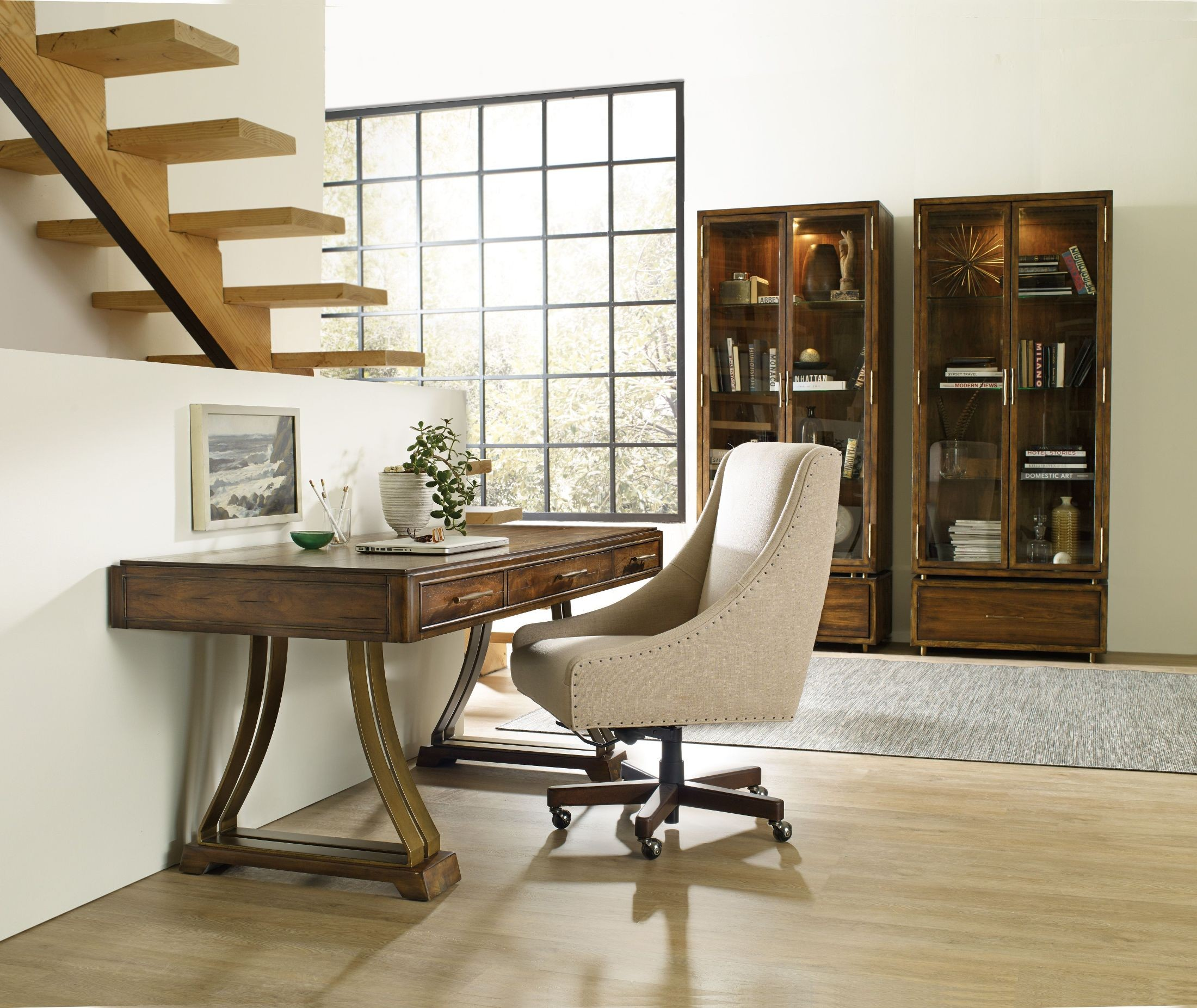 big sur medium wood home office set from hooker coleman