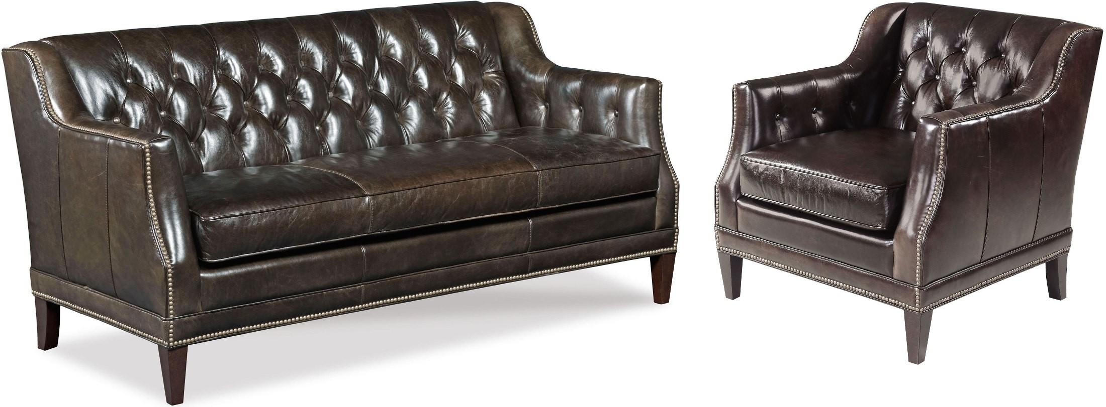 Austin Brown Leather Living Room Set From Hooker Coleman