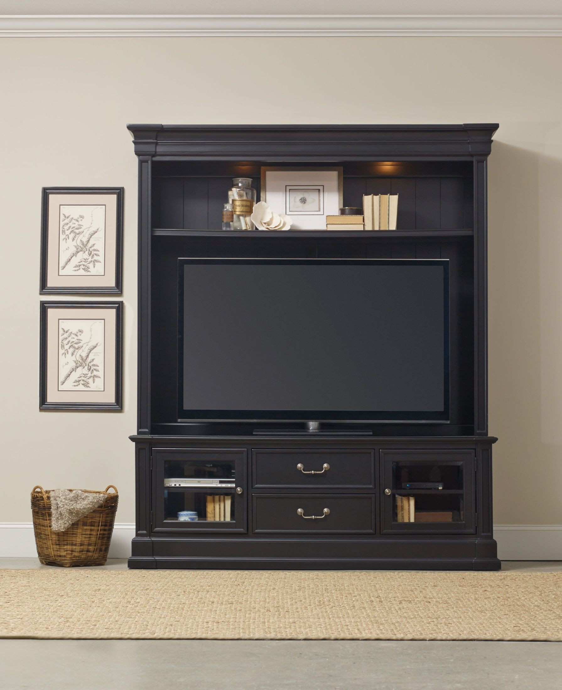 Clermont Black Entertainment Center From Hooker Coleman