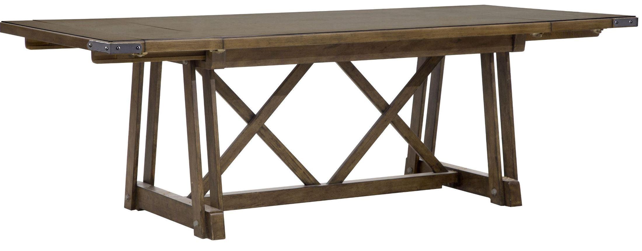 Weston Loft Rectangular Dining Table from Pulaski P001240  : p001240241 s2cc from colemanfurniture.com size 2200 x 862 jpeg 181kB