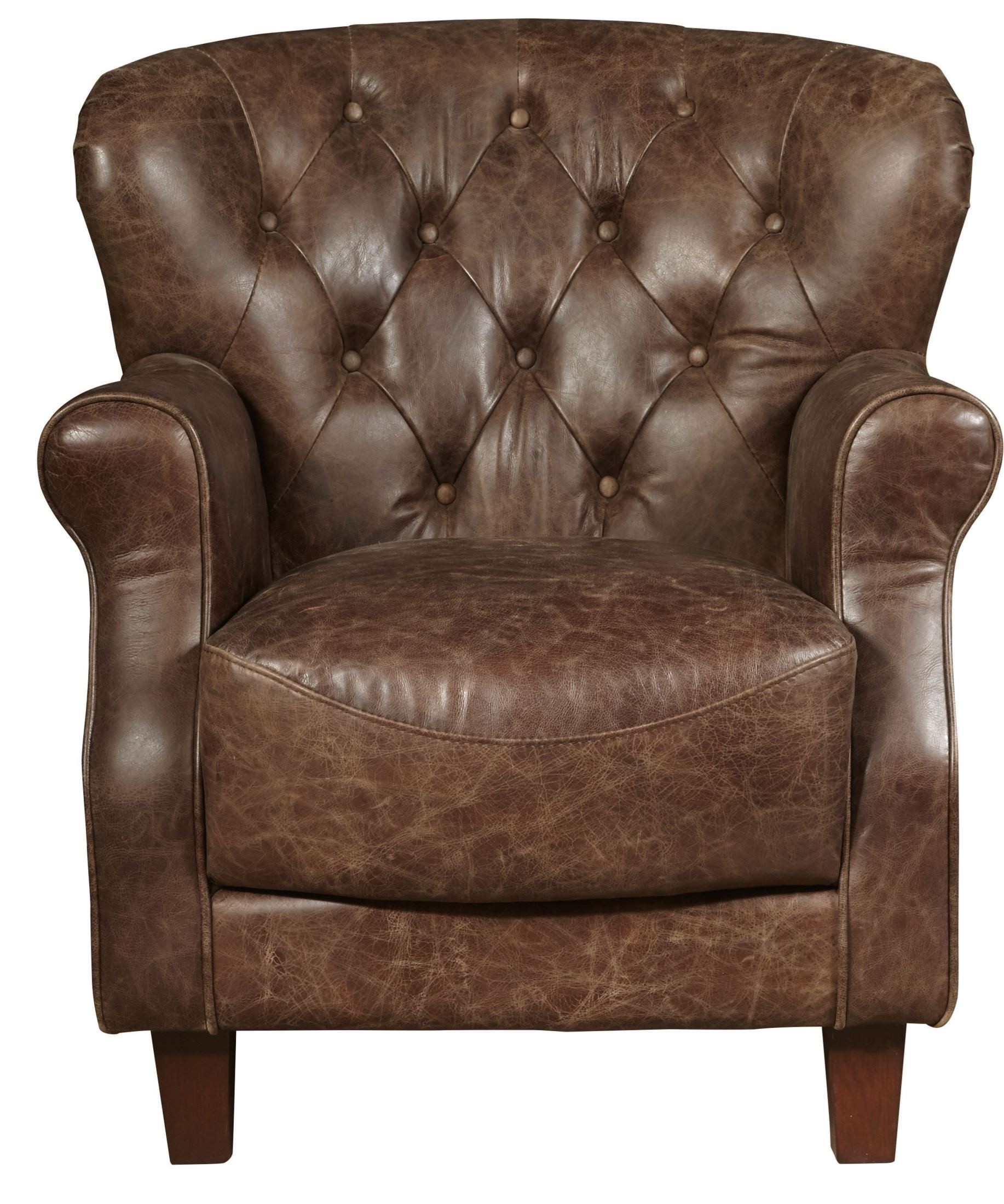 Grace Aviation Brown Leather Arm Chair from Pulaski