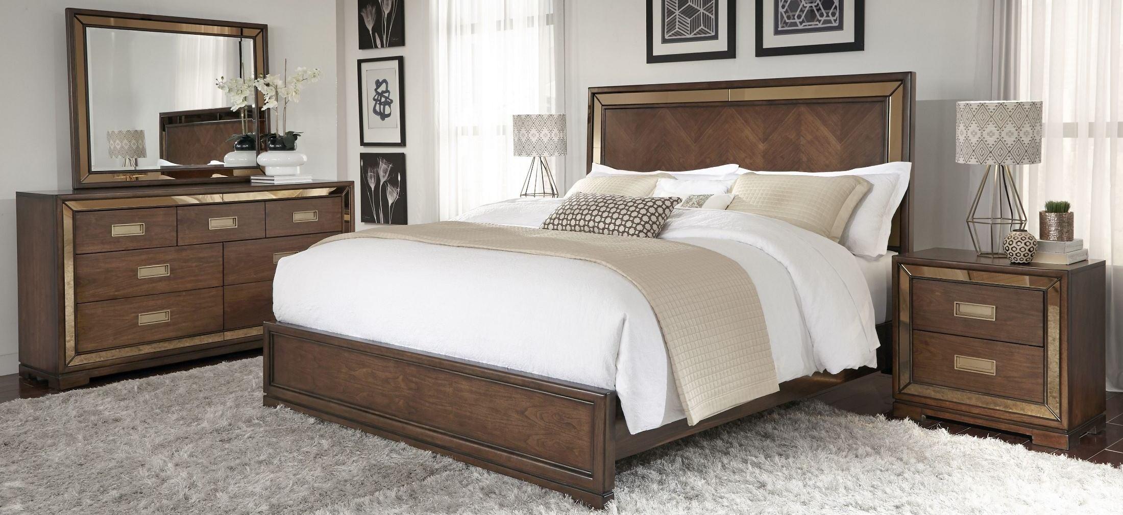 chrystelle cognac panel bedroom set from pulaski coleman furniture. Black Bedroom Furniture Sets. Home Design Ideas