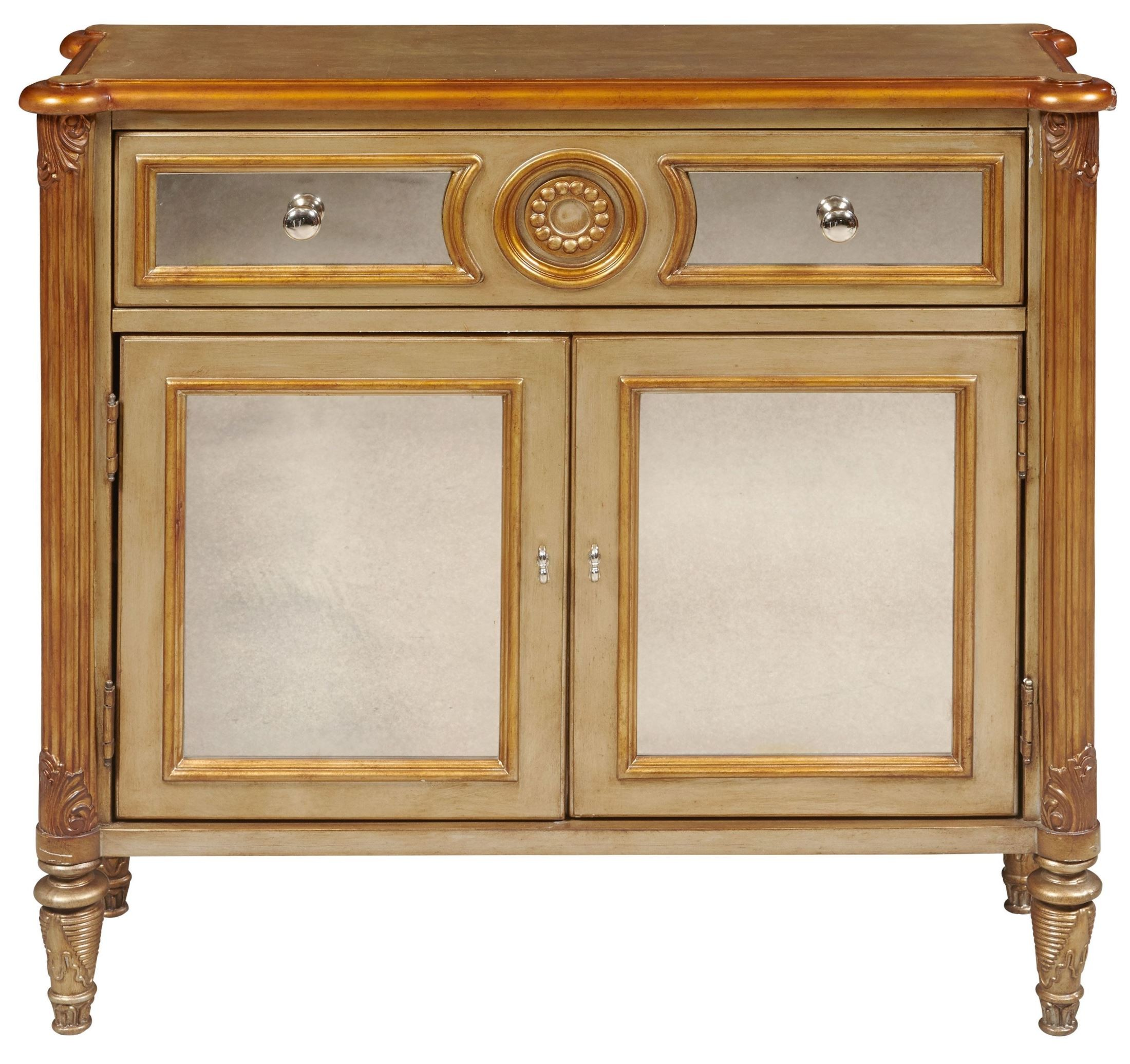 Foyer Chest With Mirror : Drawer mirrored hall chest from pulaski p