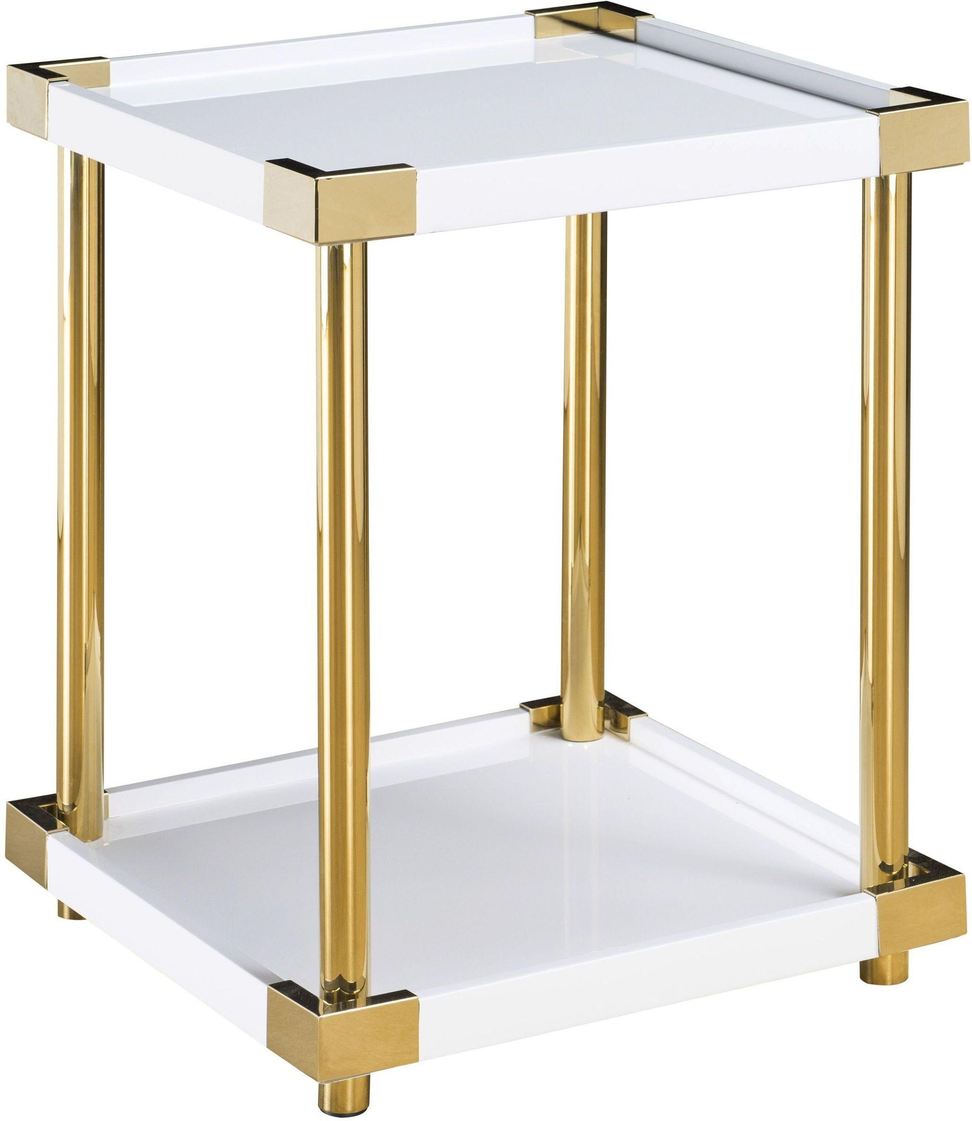 ariene modern gold white accent table from pulaski coleman furniture. Black Bedroom Furniture Sets. Home Design Ideas