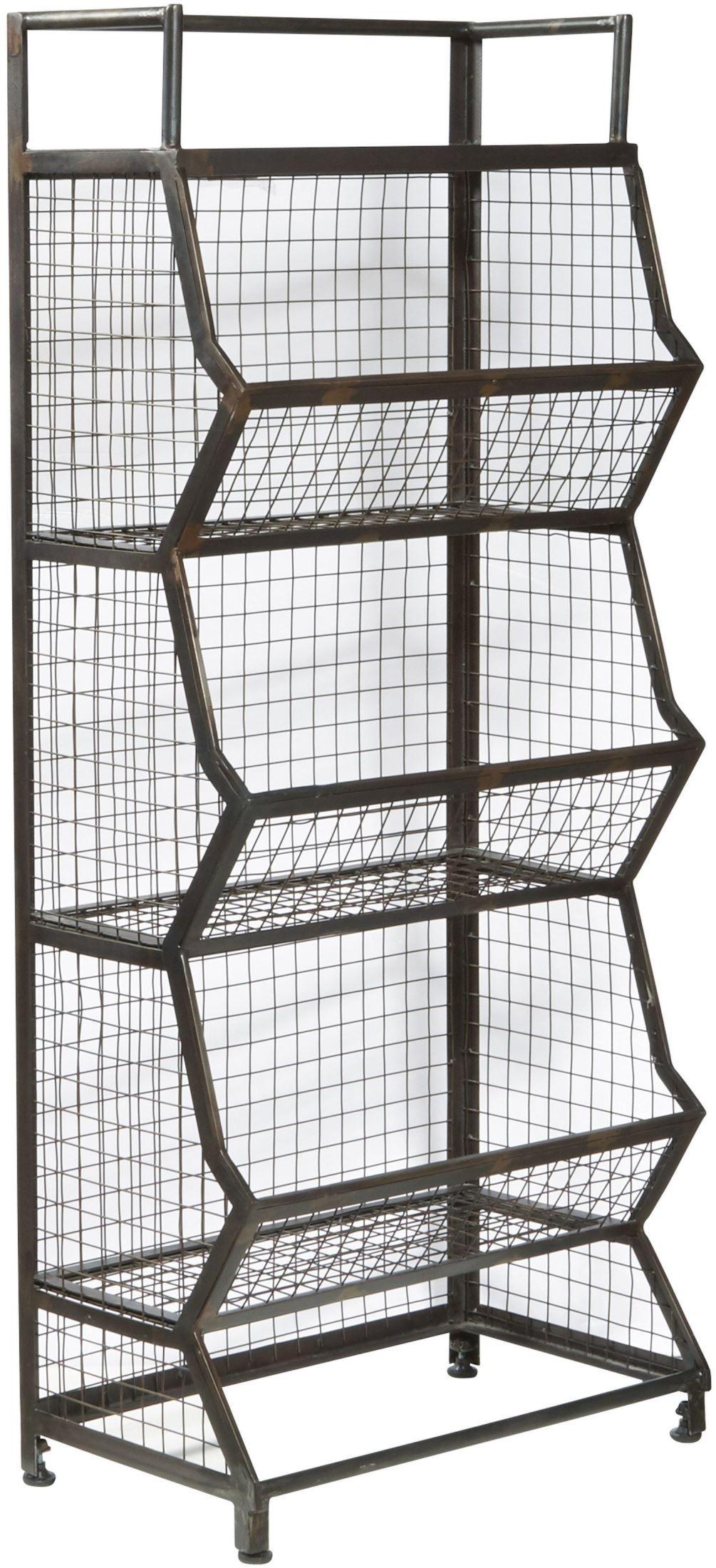 clendon metal bin etagere from pulaski coleman furniture. Black Bedroom Furniture Sets. Home Design Ideas