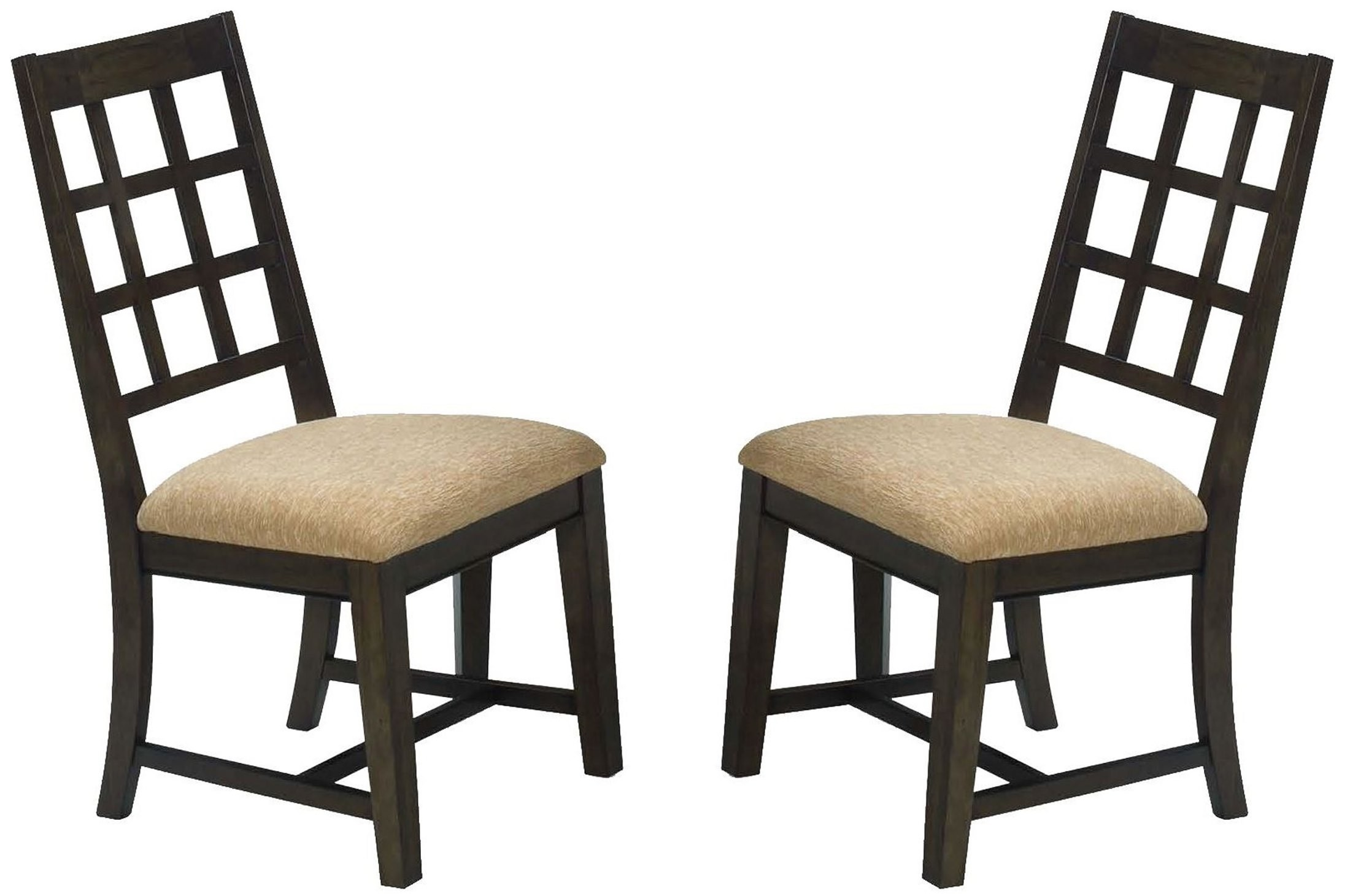 Casual Traditions Walnut Side Chair Set Of 2 From Progressive Furniture Coleman Furniture