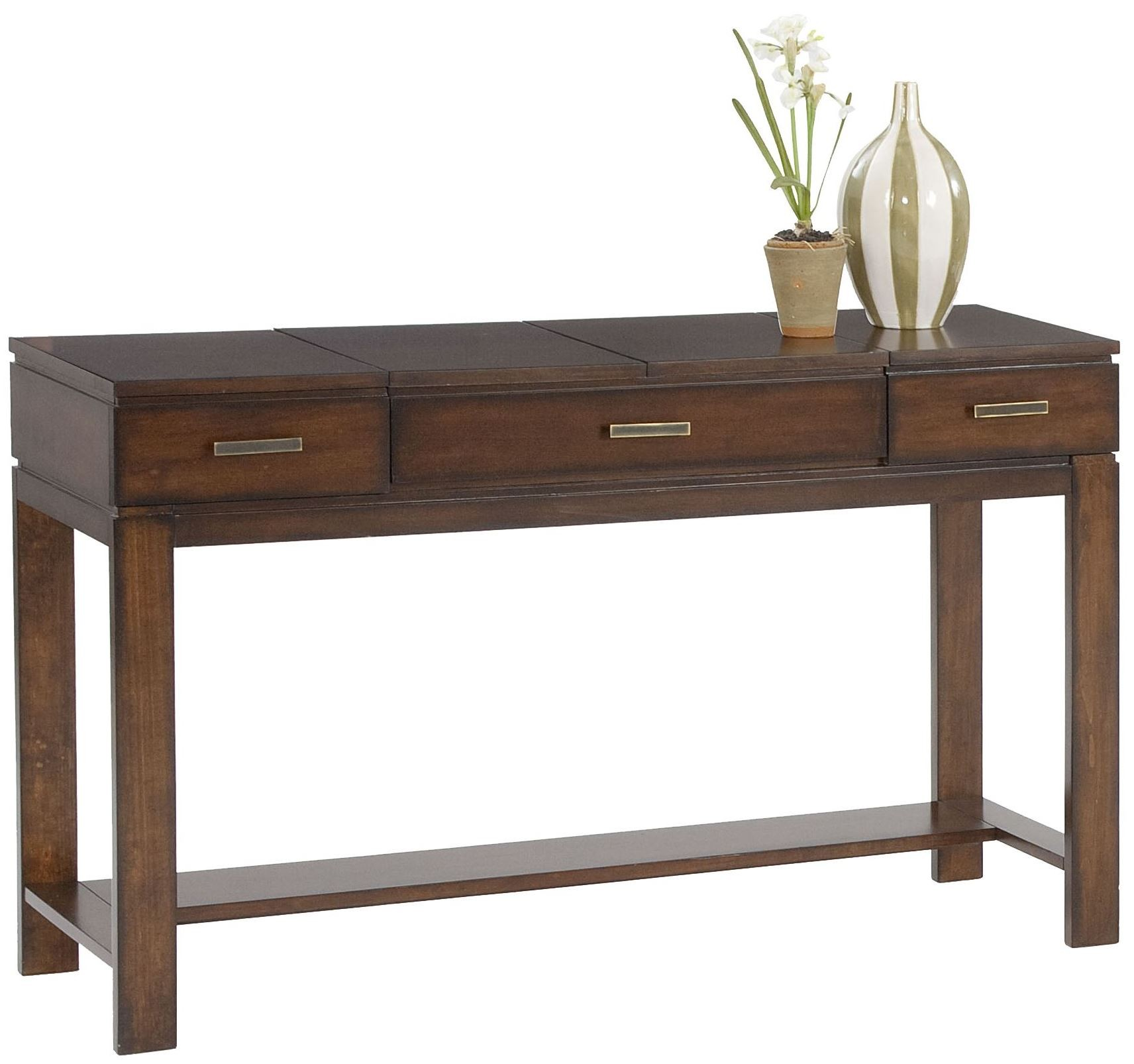 miramar cherry veneer sofa table desk from progressive furniture coleman furniture. Black Bedroom Furniture Sets. Home Design Ideas
